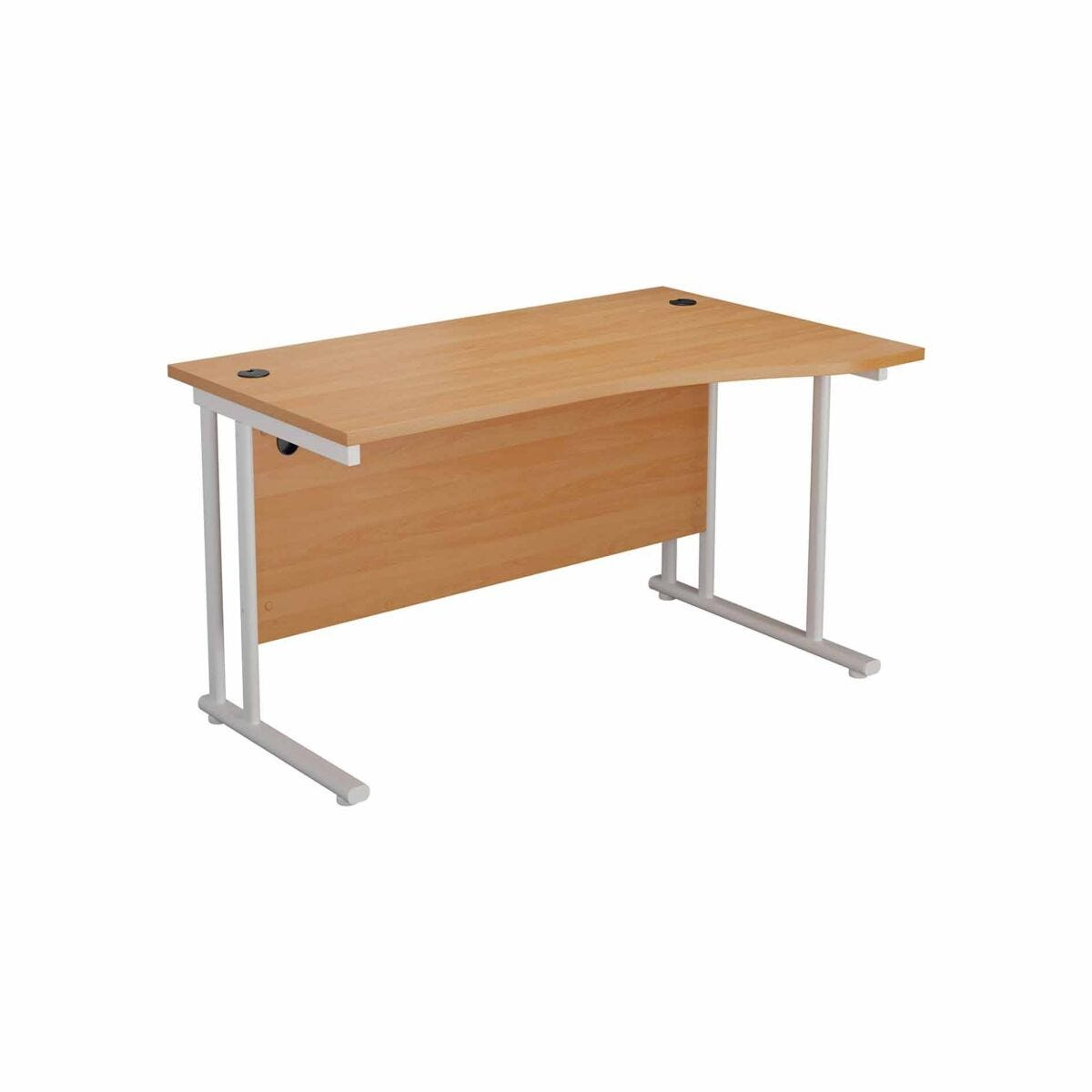 TC Office Start White Cantilever Frame Right Hand Wave Desk 1600x1000mm