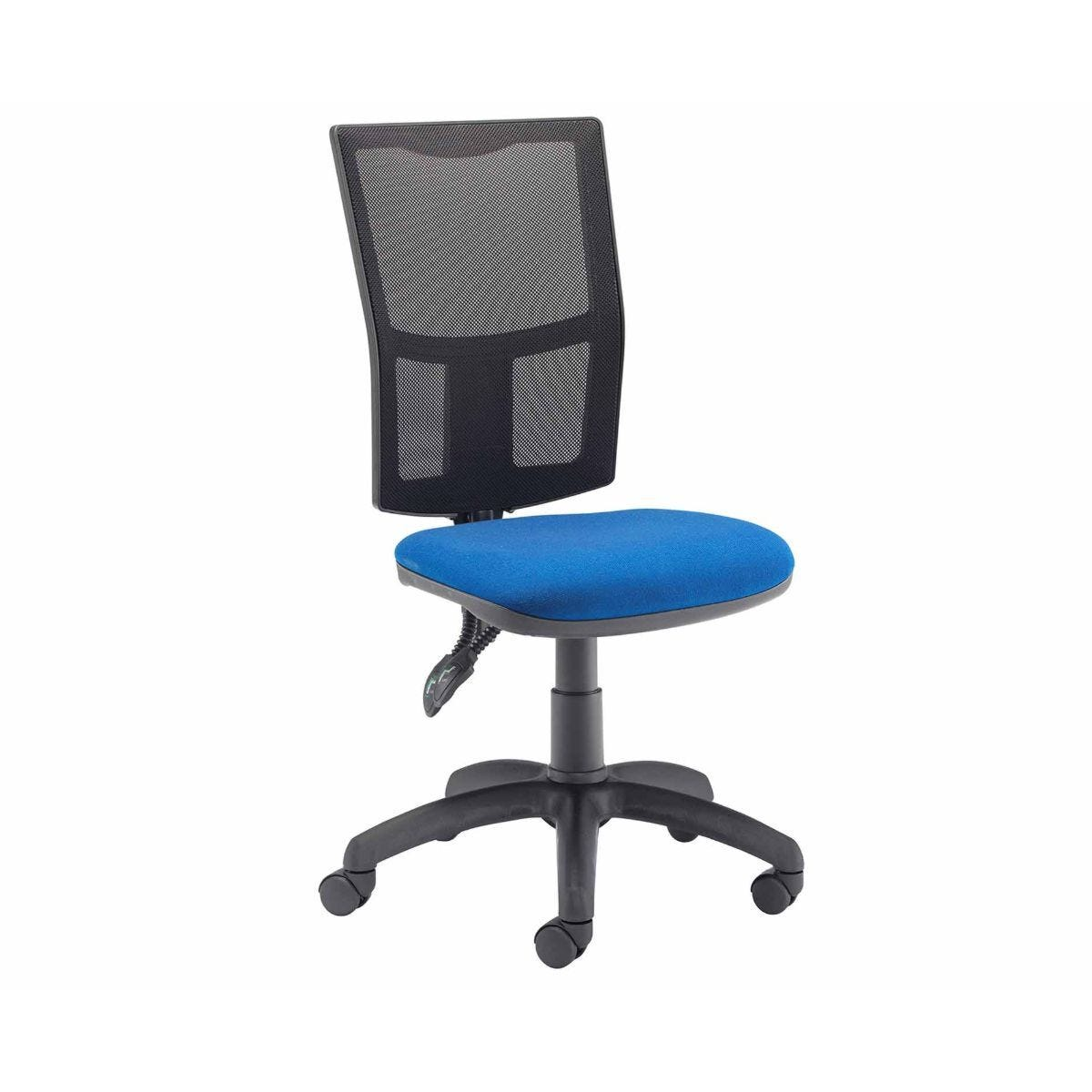 TC Office Calypso High Back Twin Lever Operator Chair with Mesh Back Royal Blue