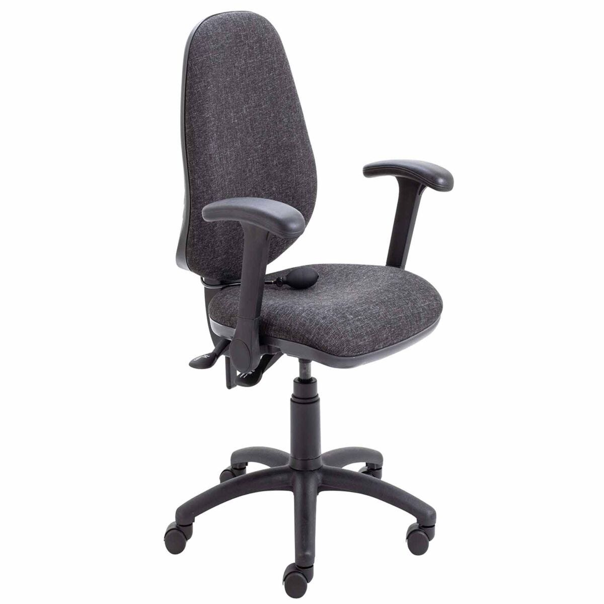 TC Office Calypso Twin Lever Ergonomic Chair with Lumbar Pump and Folding Arms