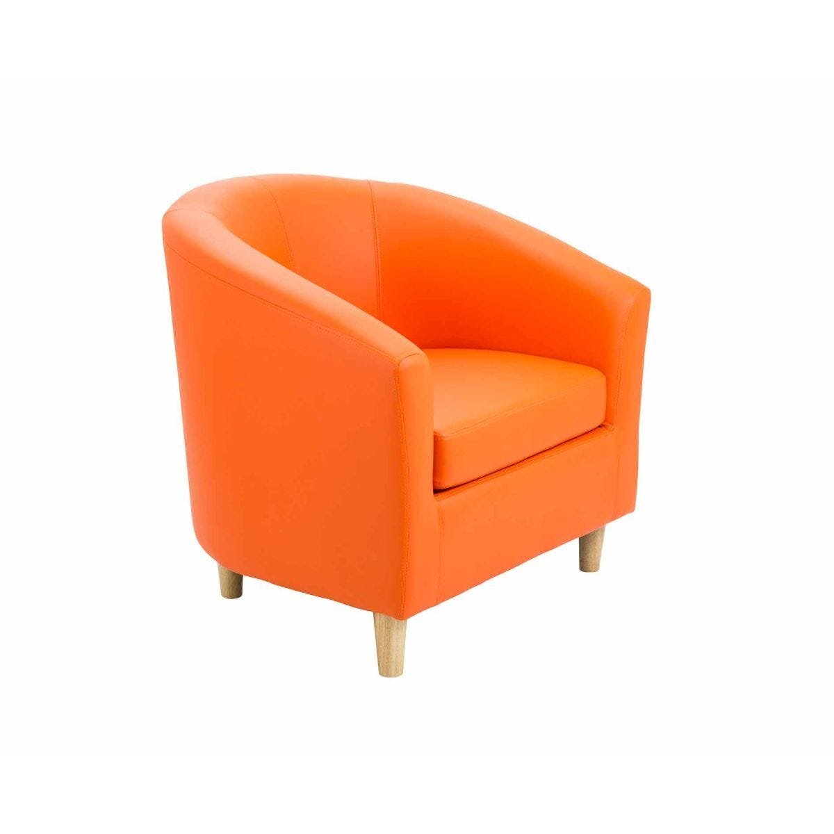 TC Office Lux Tub Armchair with Wooden Feet Orange