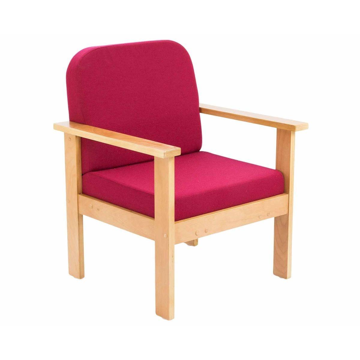 TC Office Juplo Wooden Reception Arm Chair Claret