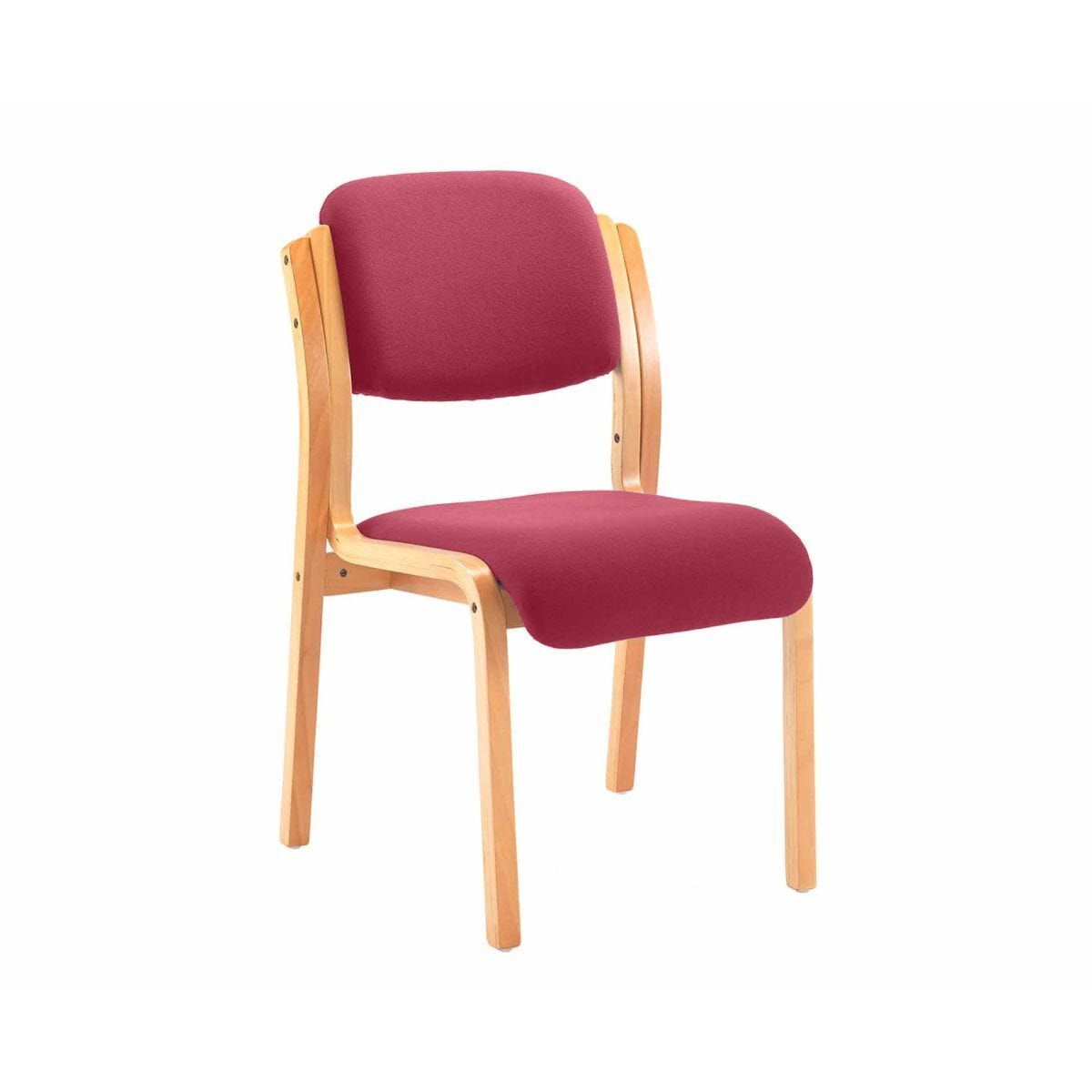 TC Office Renoir Wooden Frame Side Chair Claret