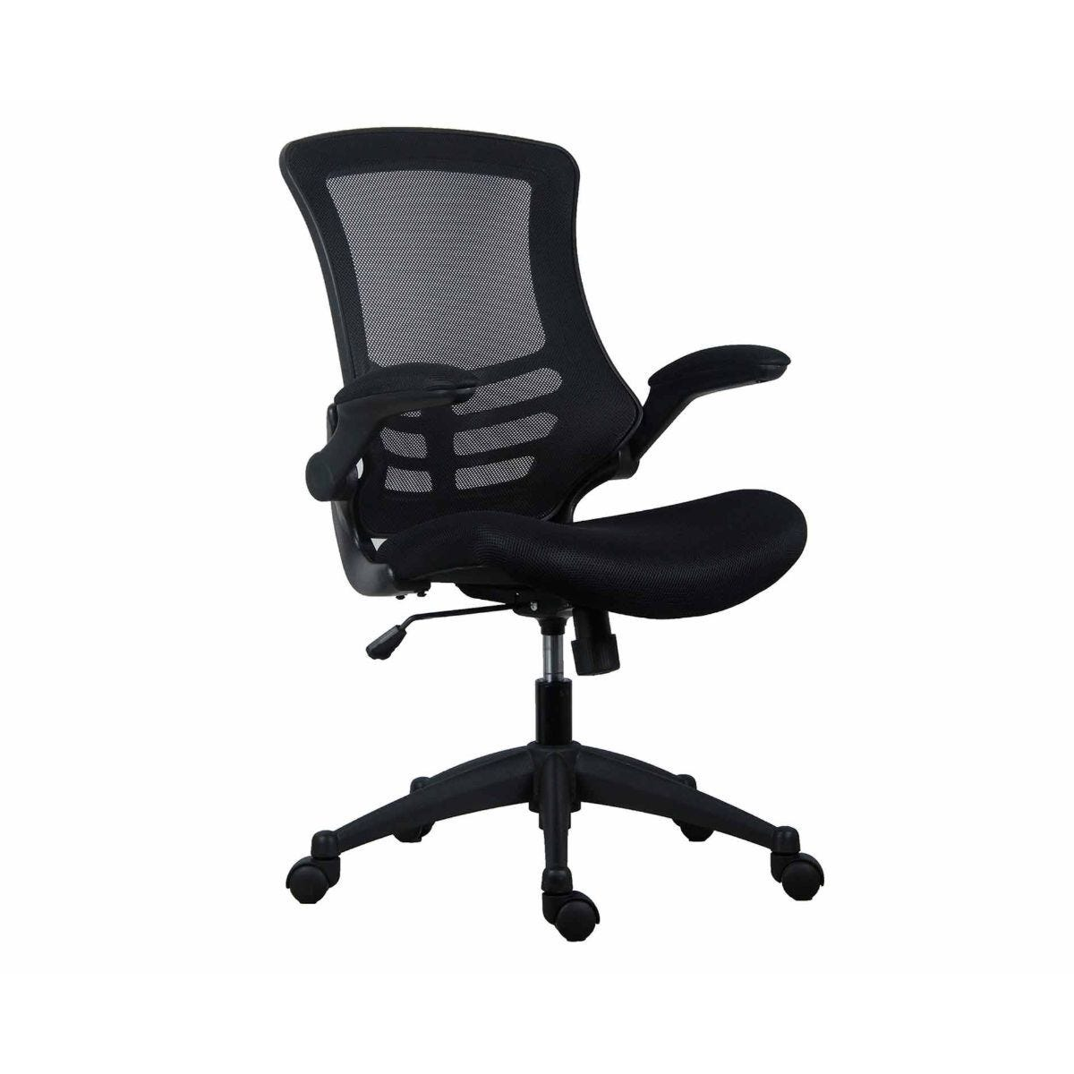 TC Office Marlos Mesh Task Chair with Folding Arms Black