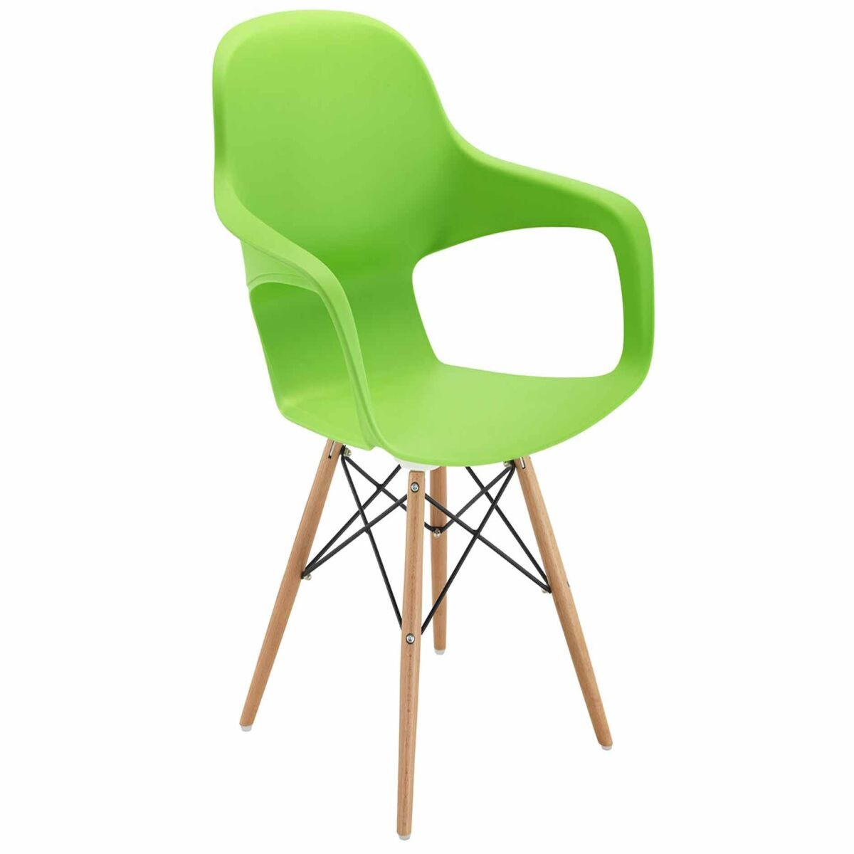 TC Office Ariel 2 Retro Chair with Wooden and Wire Base