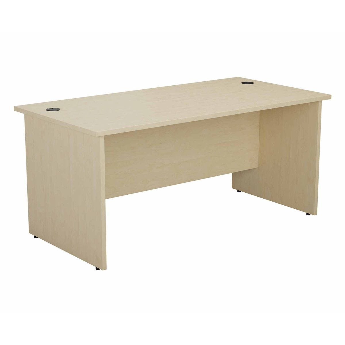 TC Office Rectangular Desk with Panel End Legs 1400 x 800mm Maple