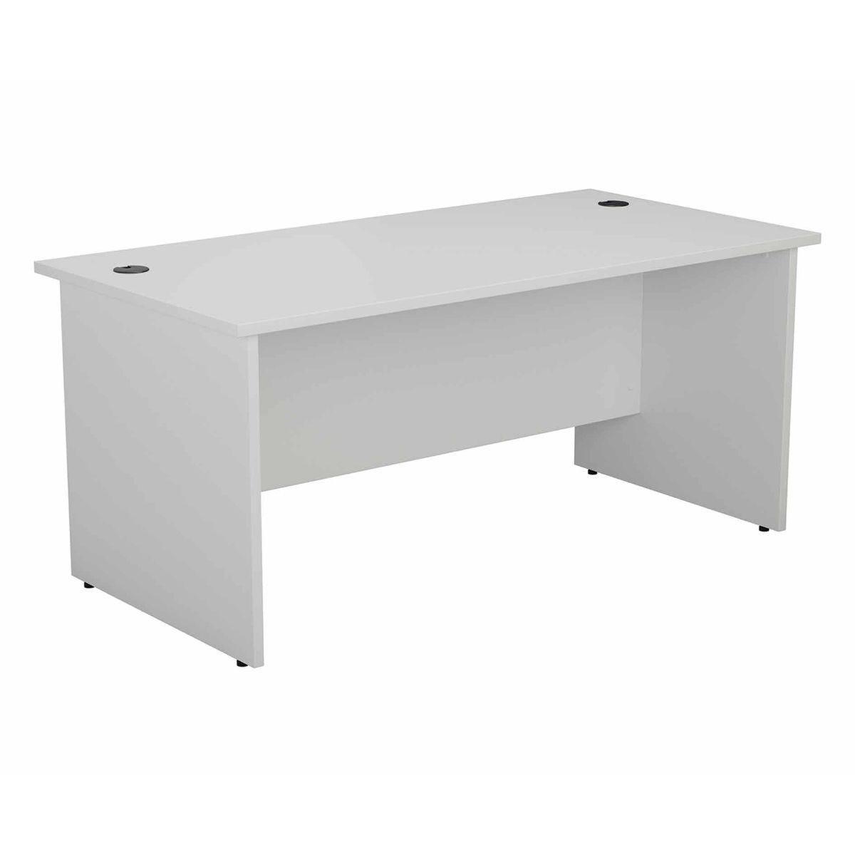 TC Office Rectangular Desk with Panel End Legs 1400 x 800mm White