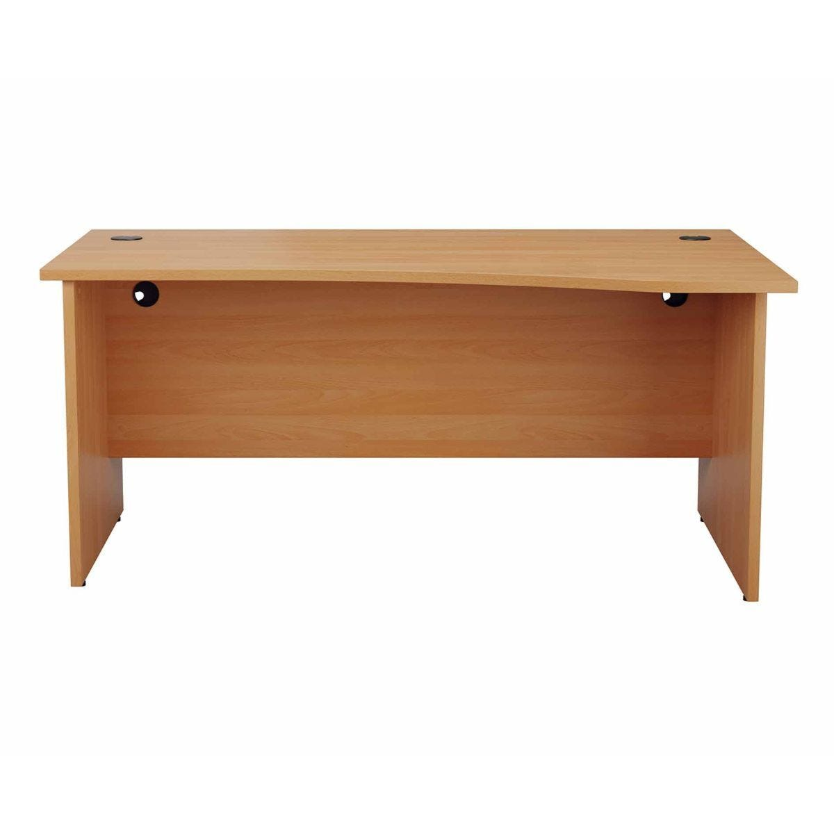 TC Office Right Hand Wave Desk with Panel End Legs 1600 x 1000mm