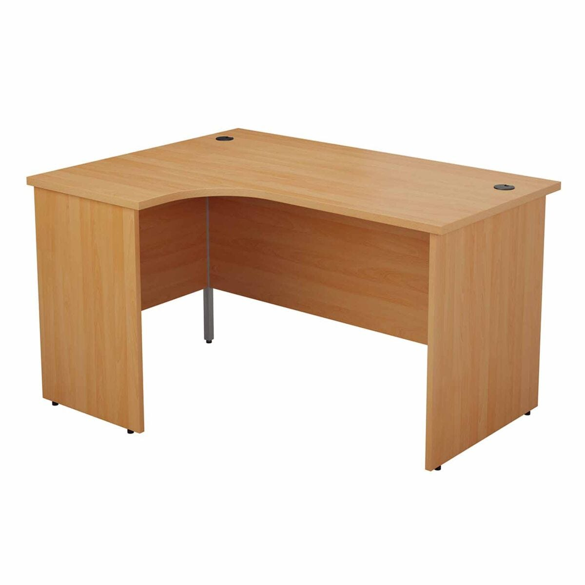 TC Office Left Hand Crescent Desk with Panel End Legs 1600 x 1200mm