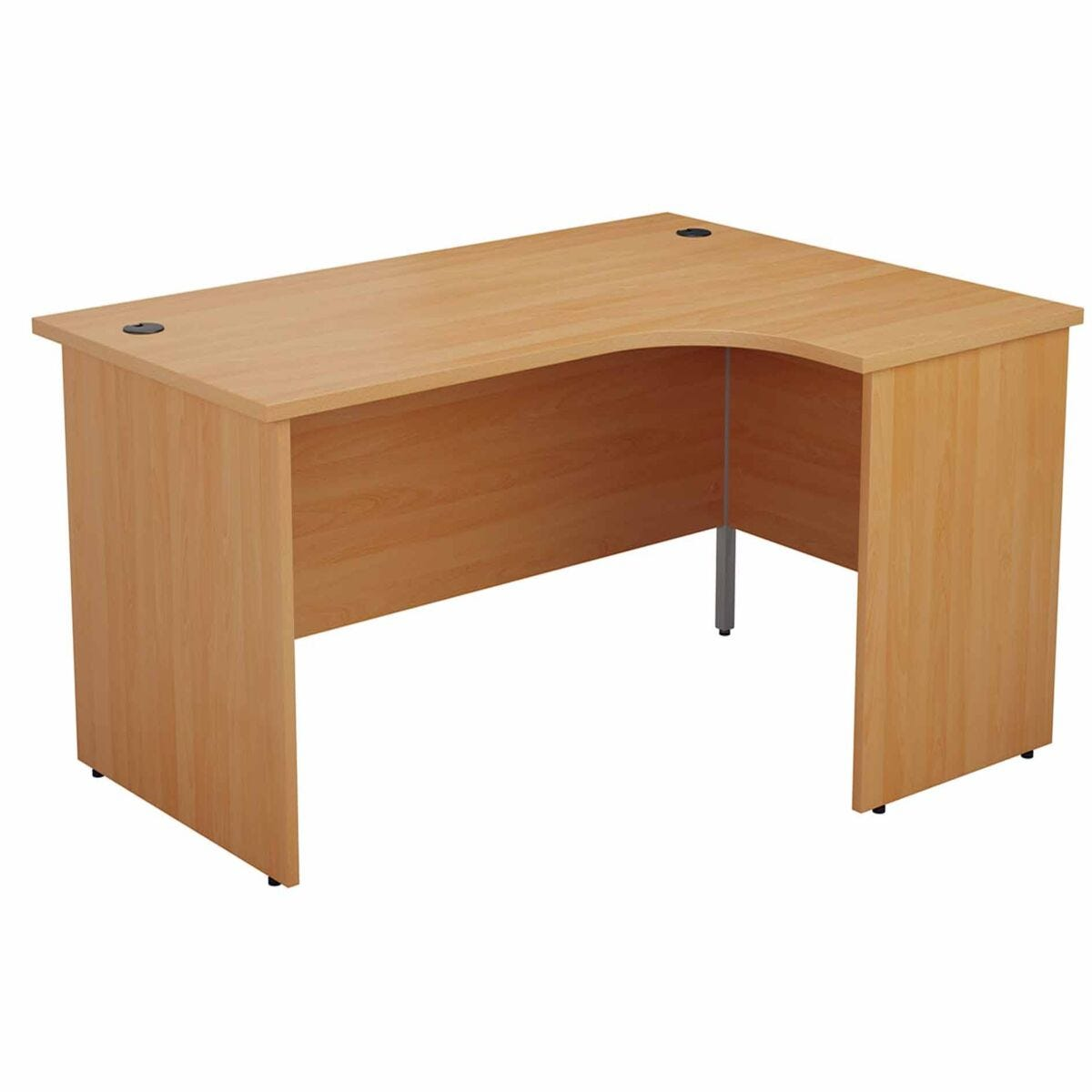 TC Office Right Hand Crescent Desk with Panel End Legs 1600 x 1200mm