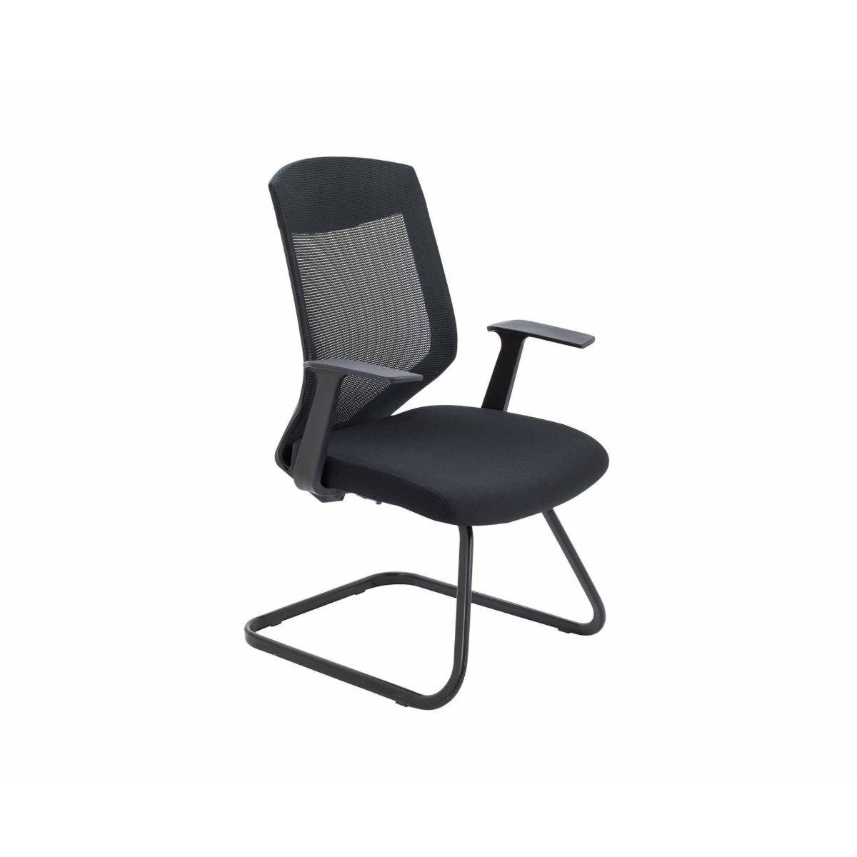 TC Office Vogue Mesh Back Cantilever Meeting Chair with Black Frame