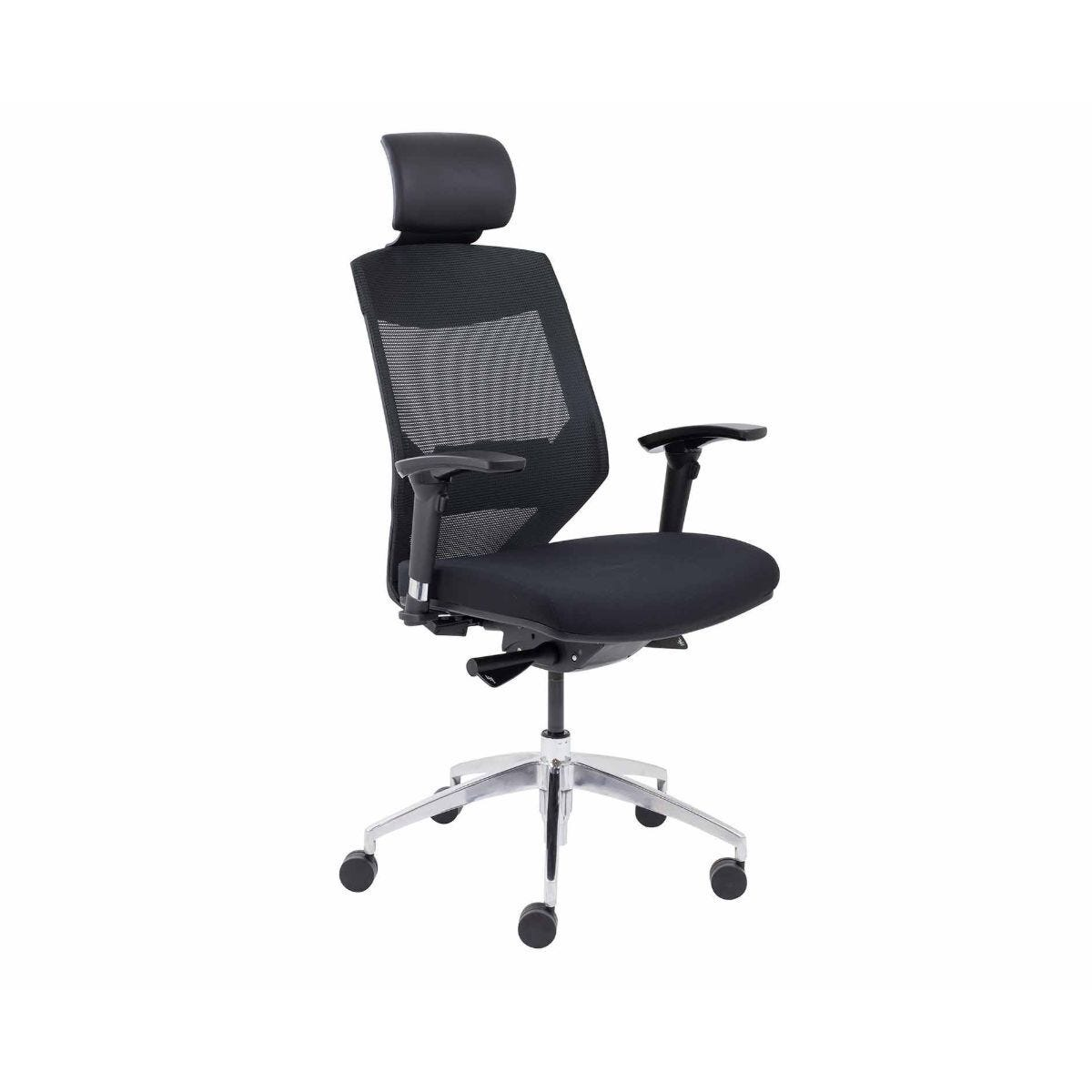TC Office Vogue High Back Mesh Task Chair with Headrest and Chrome Base