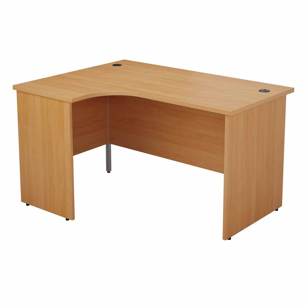 TC Office Left Hand Crescent Desk with Panel End Legs 1800 x 1200mm