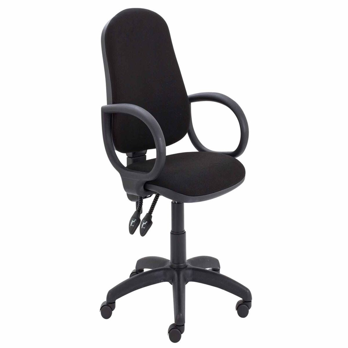 TC Office Calypso High Back Twin Lever Operator Chair with Fixed Arms