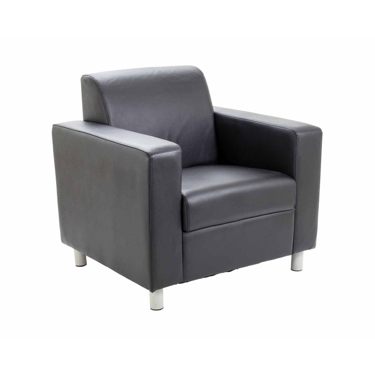TC Office Iceberg Leather Reception Armchair