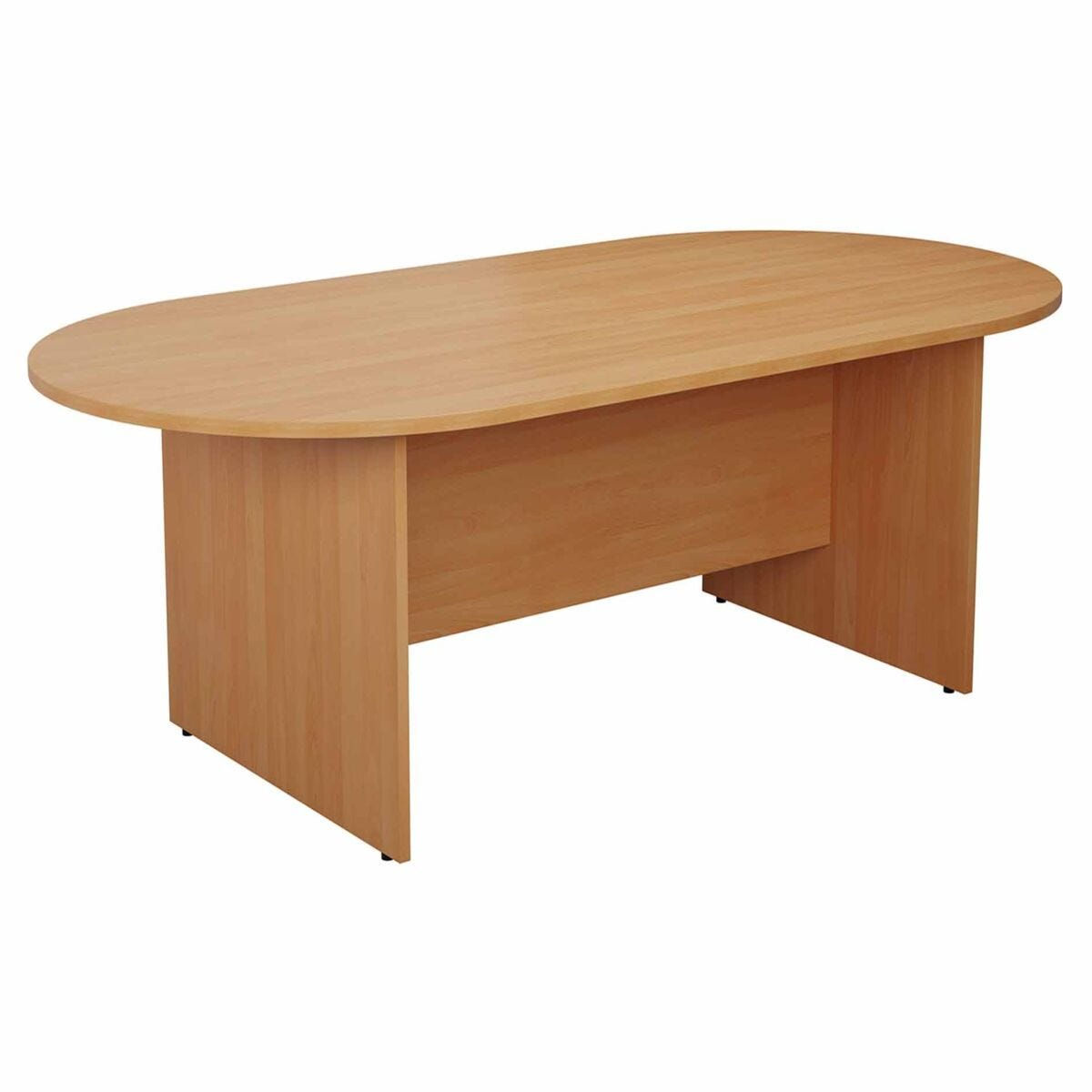 TC Office Long D-End Boardroom Table 2400mm