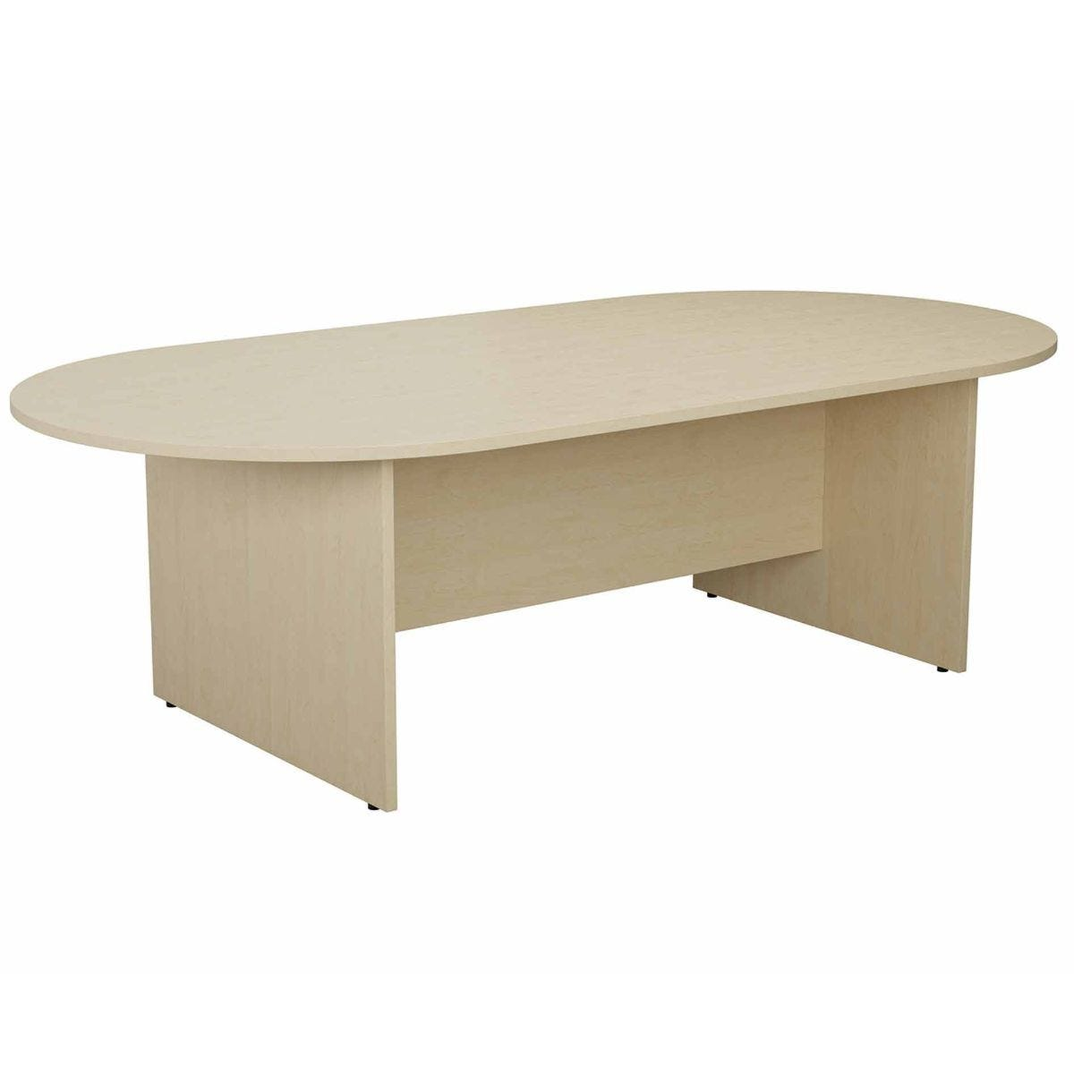 TC Office Long D-End Boardroom Table 2400mm Maple