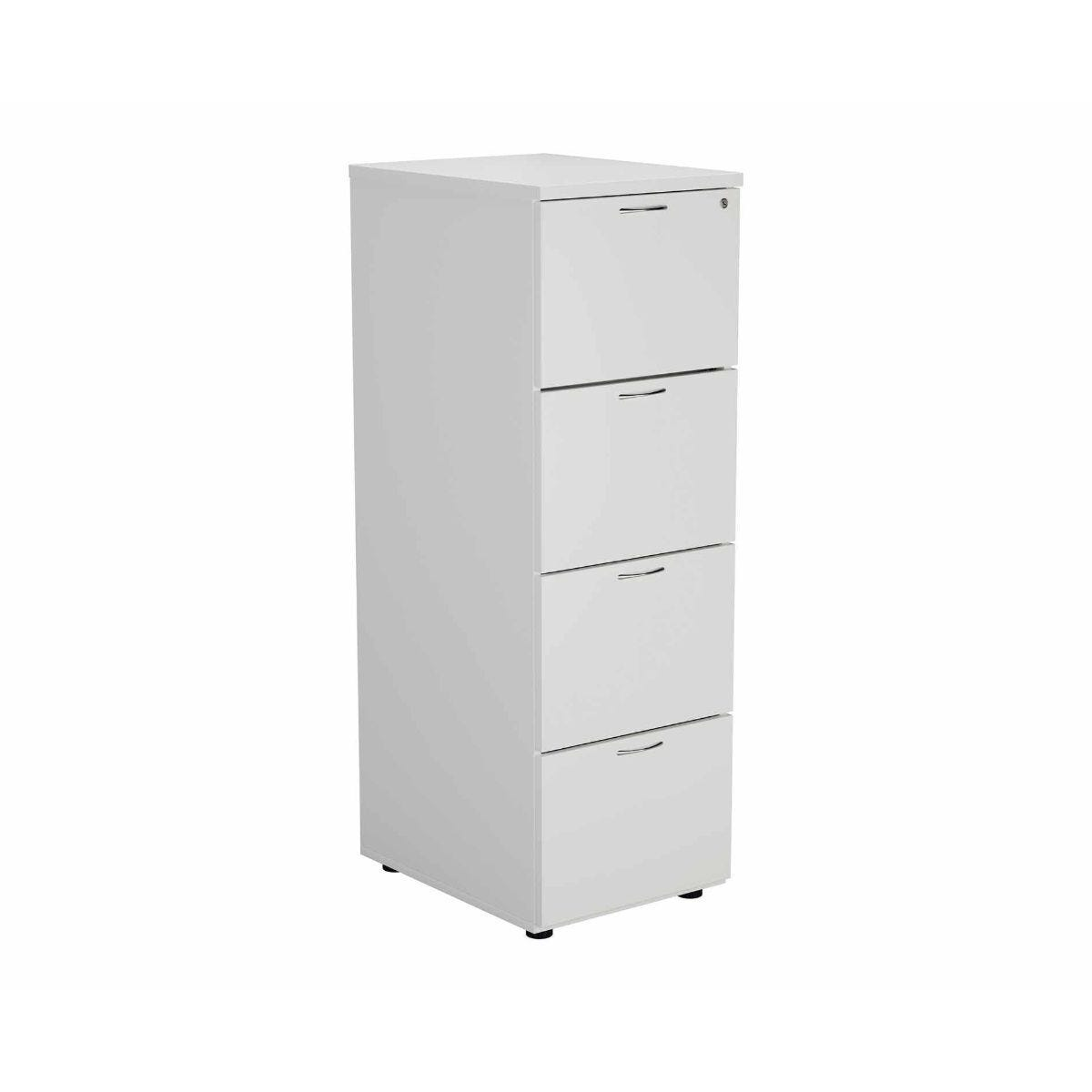 TC Office Deluxe 4 Drawer Filing Cabinet A4 Height 1365mm White