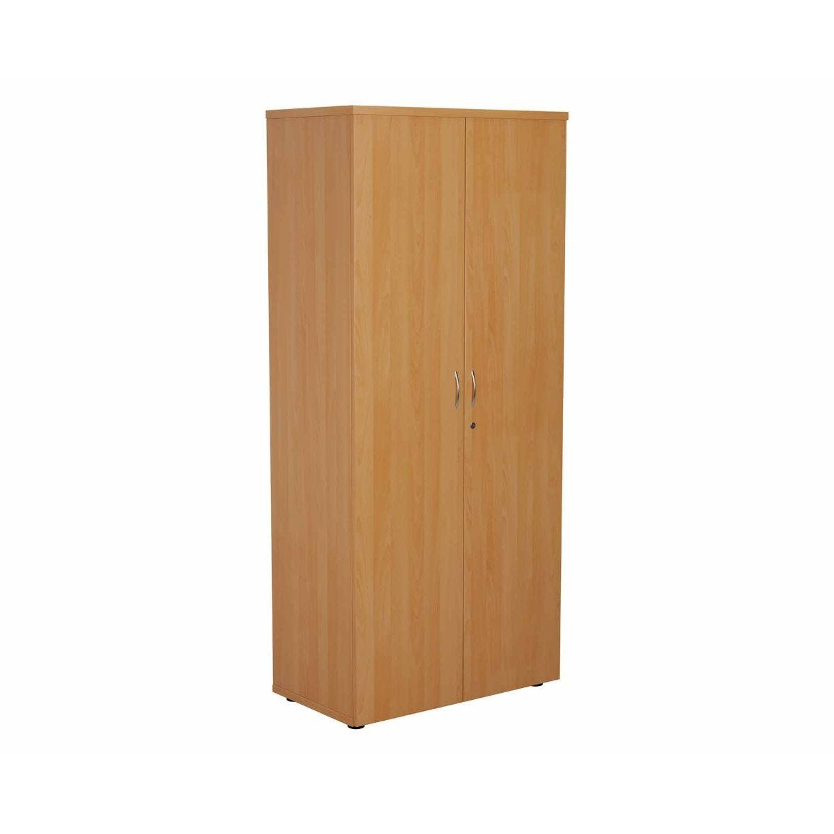 TC Office Cupboard with Lockable Doors with 4 Shelves Height 1800mm Beech