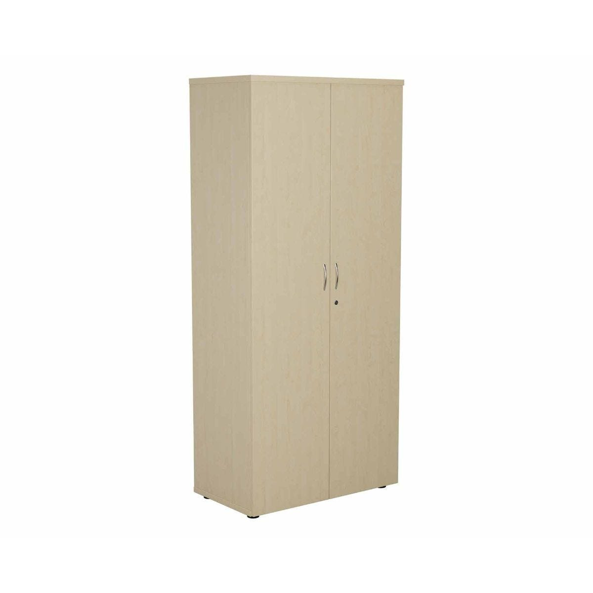 TC Office Cupboard with Lockable Doors with 4 Shelves Height 1800mm Maple