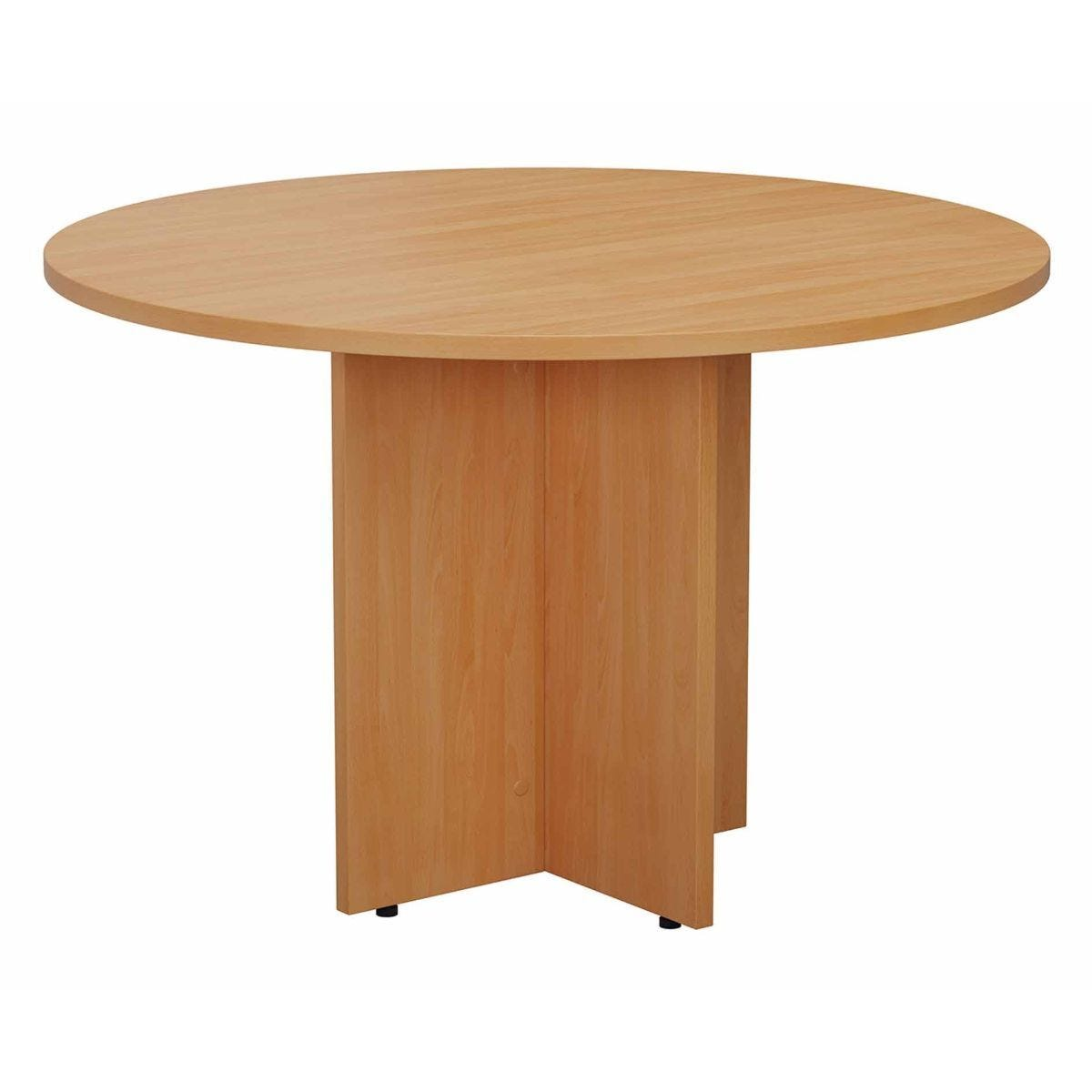 TC Office Round Meeting Table 1100mm Beech