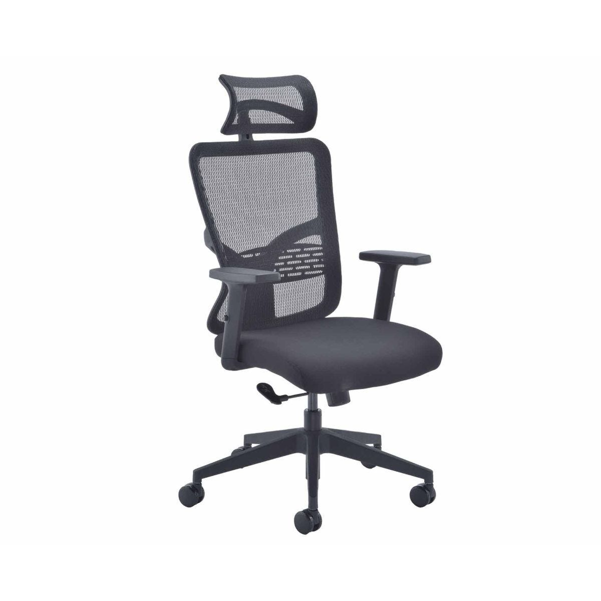 TC Office Kempes Highback Mesh Task Chair with Headrest