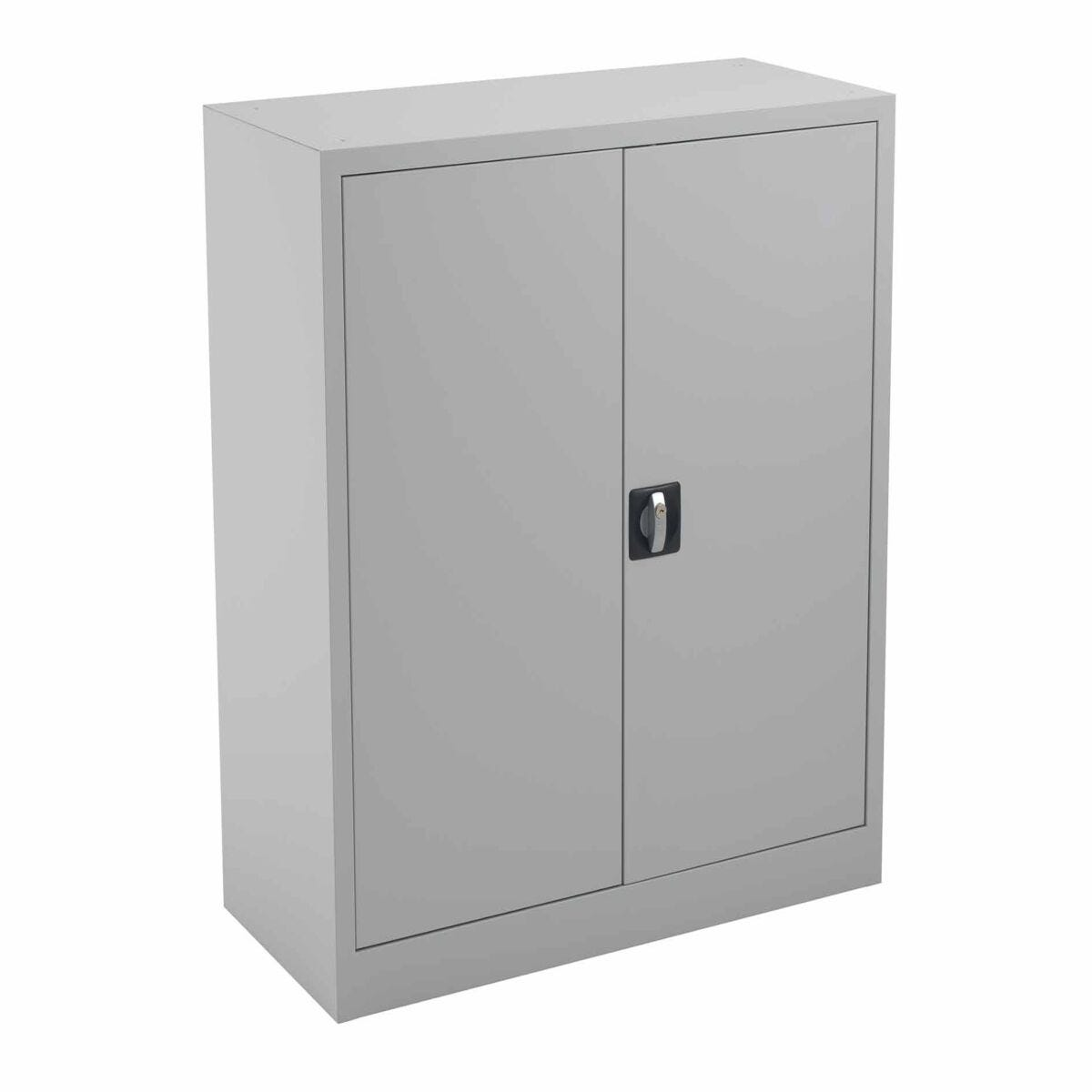 TC Office Talos Double Lockable Door Steel Cupboard with 2 Shelves 1000mm Height