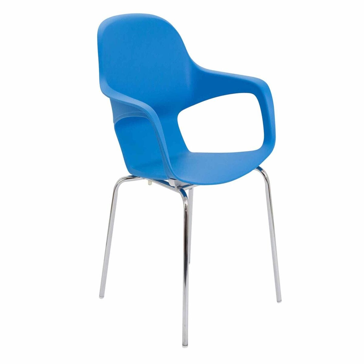 TC Office Ariel 2 Chrome Round Leg Stackable Chair