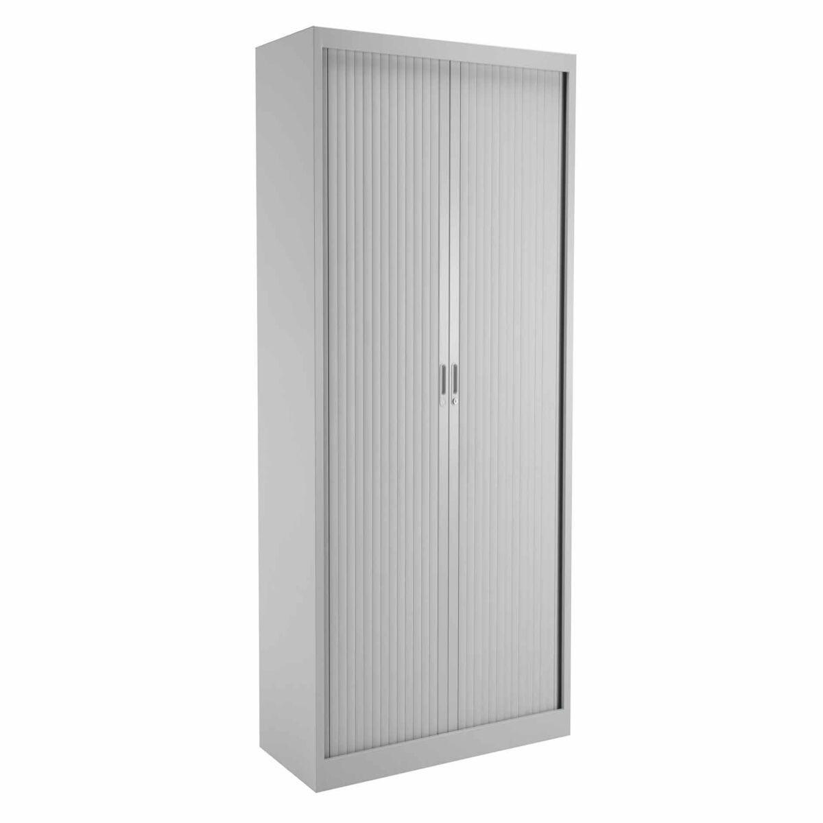 TC Office Talos Sliding Lockable Door Tambour Unit with 4 Shelves 1950mm Height