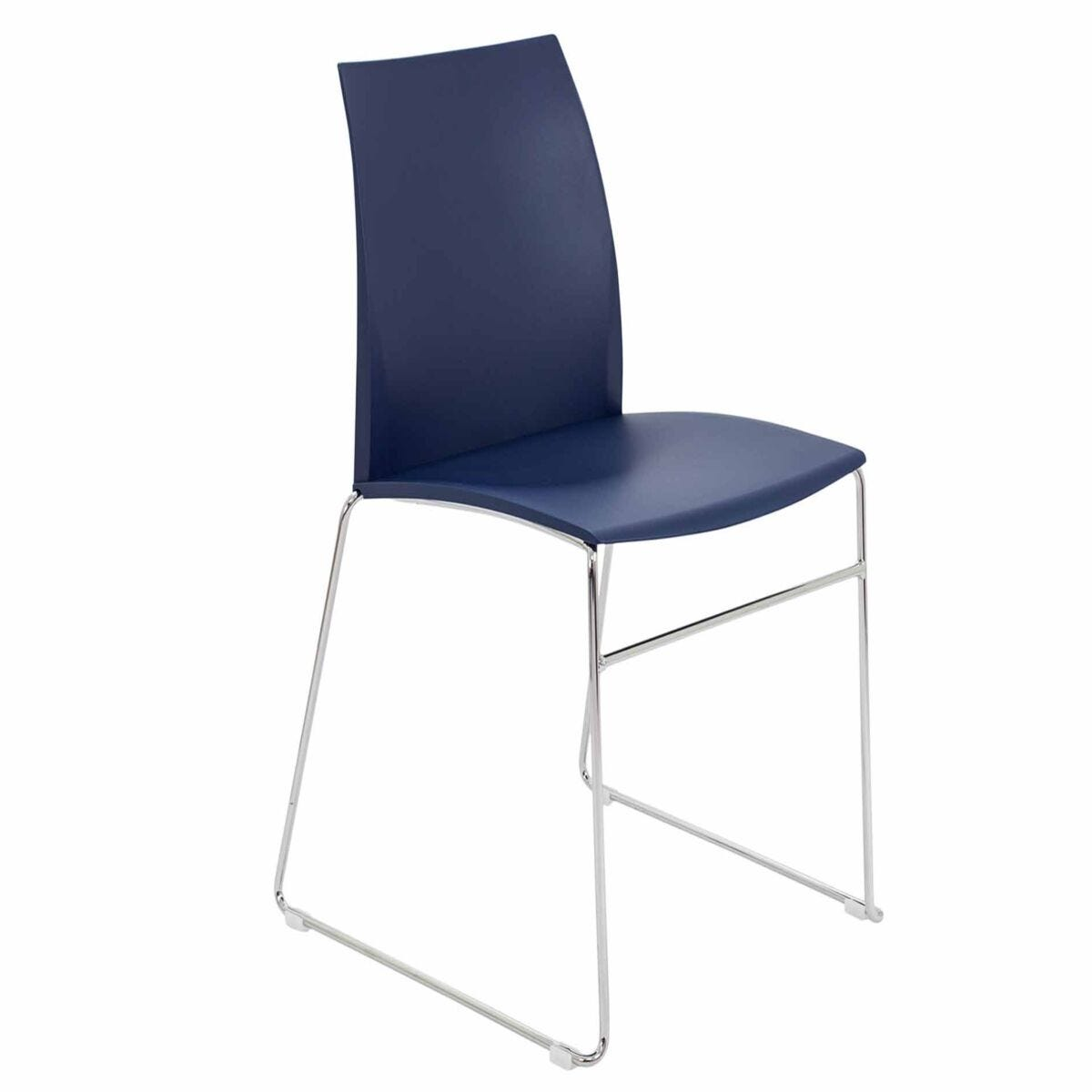 TC Office Adapt Chrome Skid Leg Stackable Chair