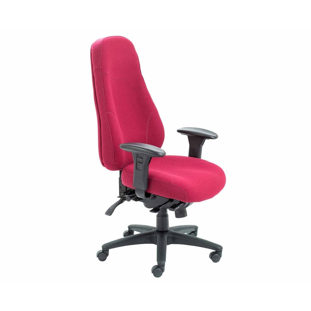 TC Office Cheetah Ergonomic 24 Hour Task Chair Ruby