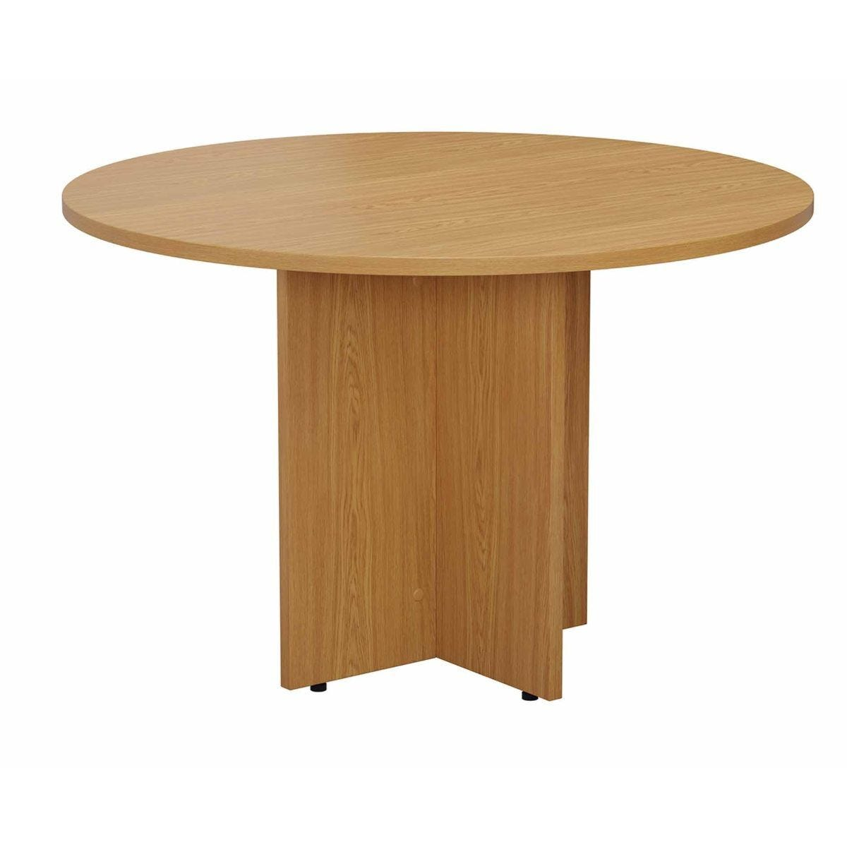 TC Office Round Meeting Table 1100mm Oak