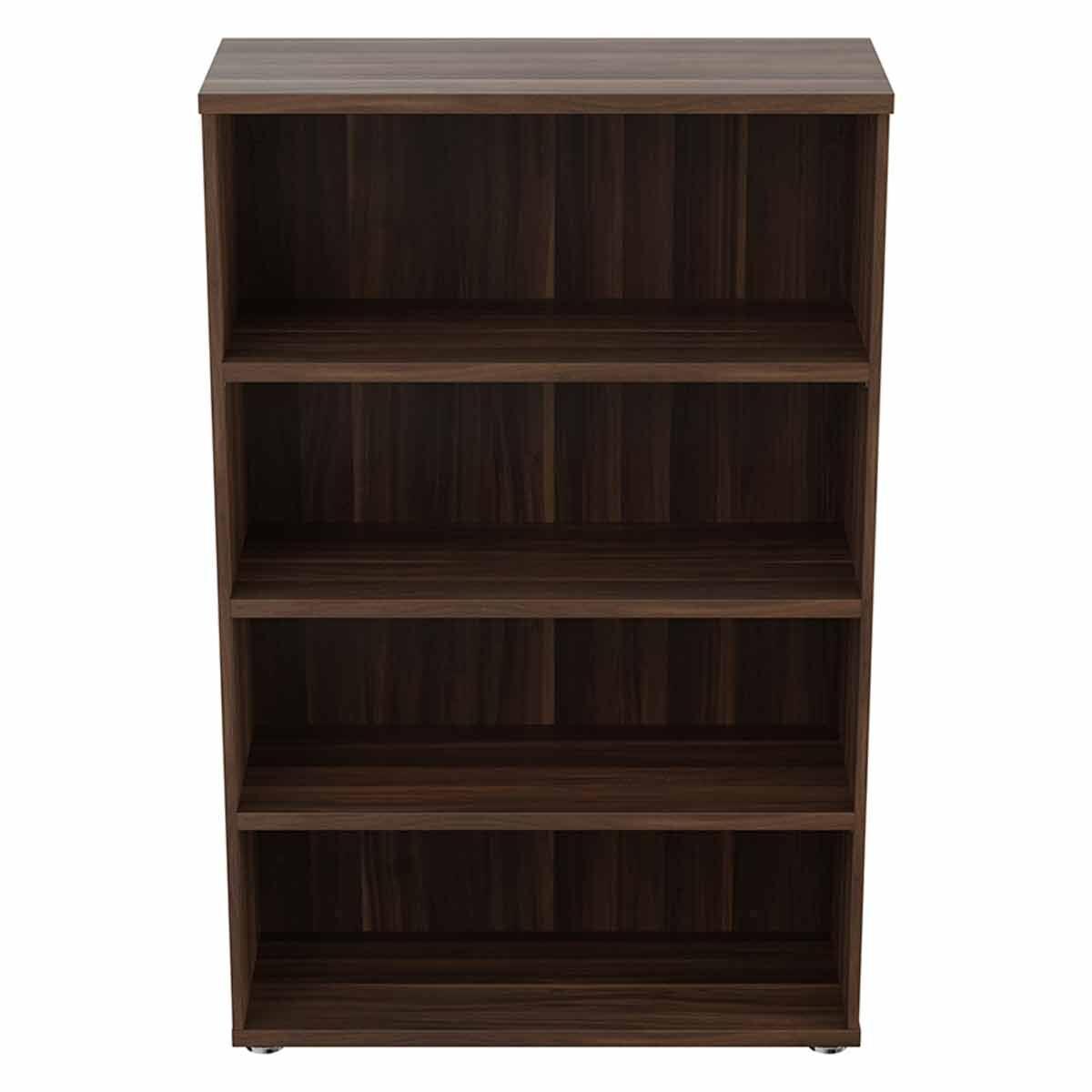 TC Office Regent Bookcase 3 Shelves Height 1600mm Dark Walnut