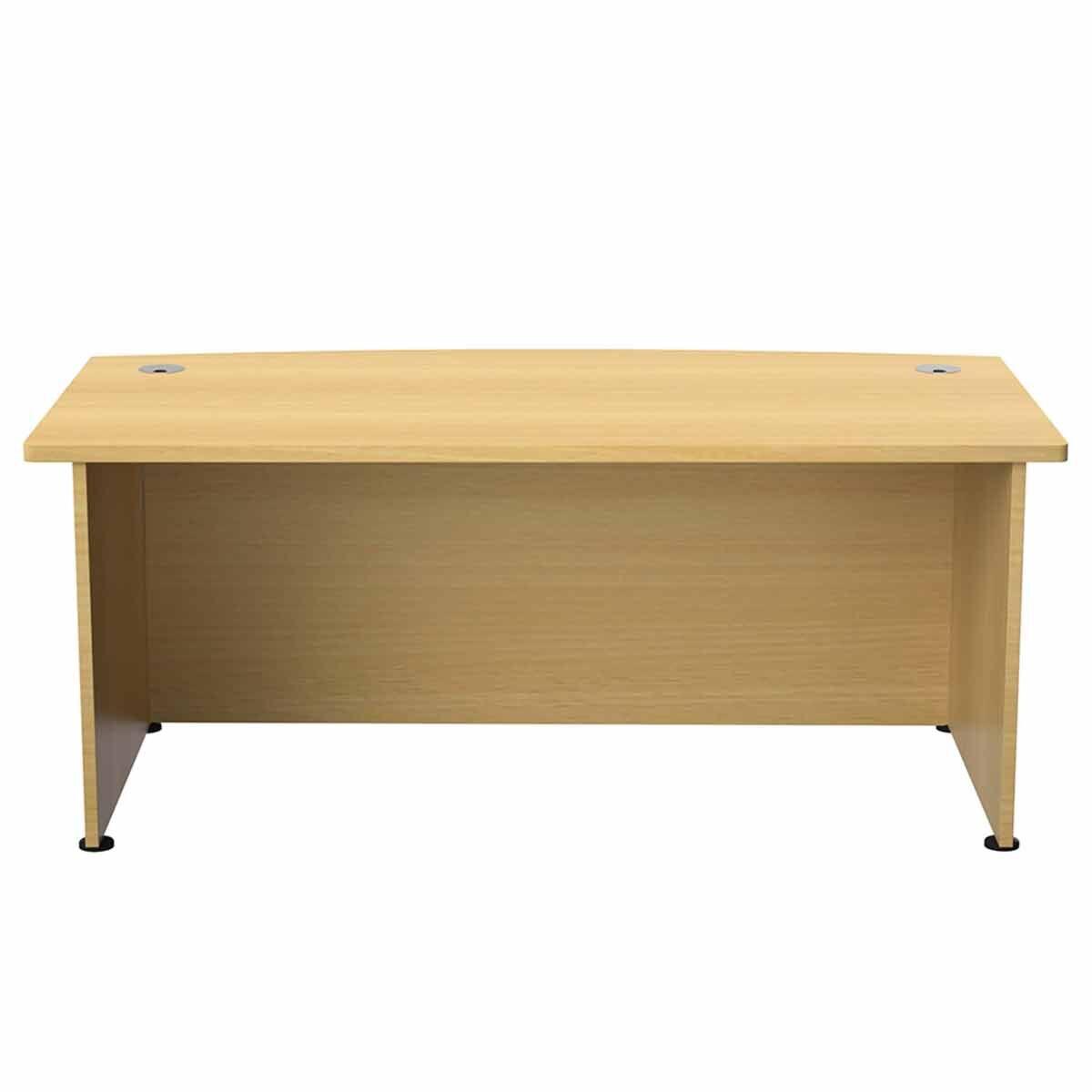 TC Office Regent Bow Fronted Executive Desk 2000mm Oak