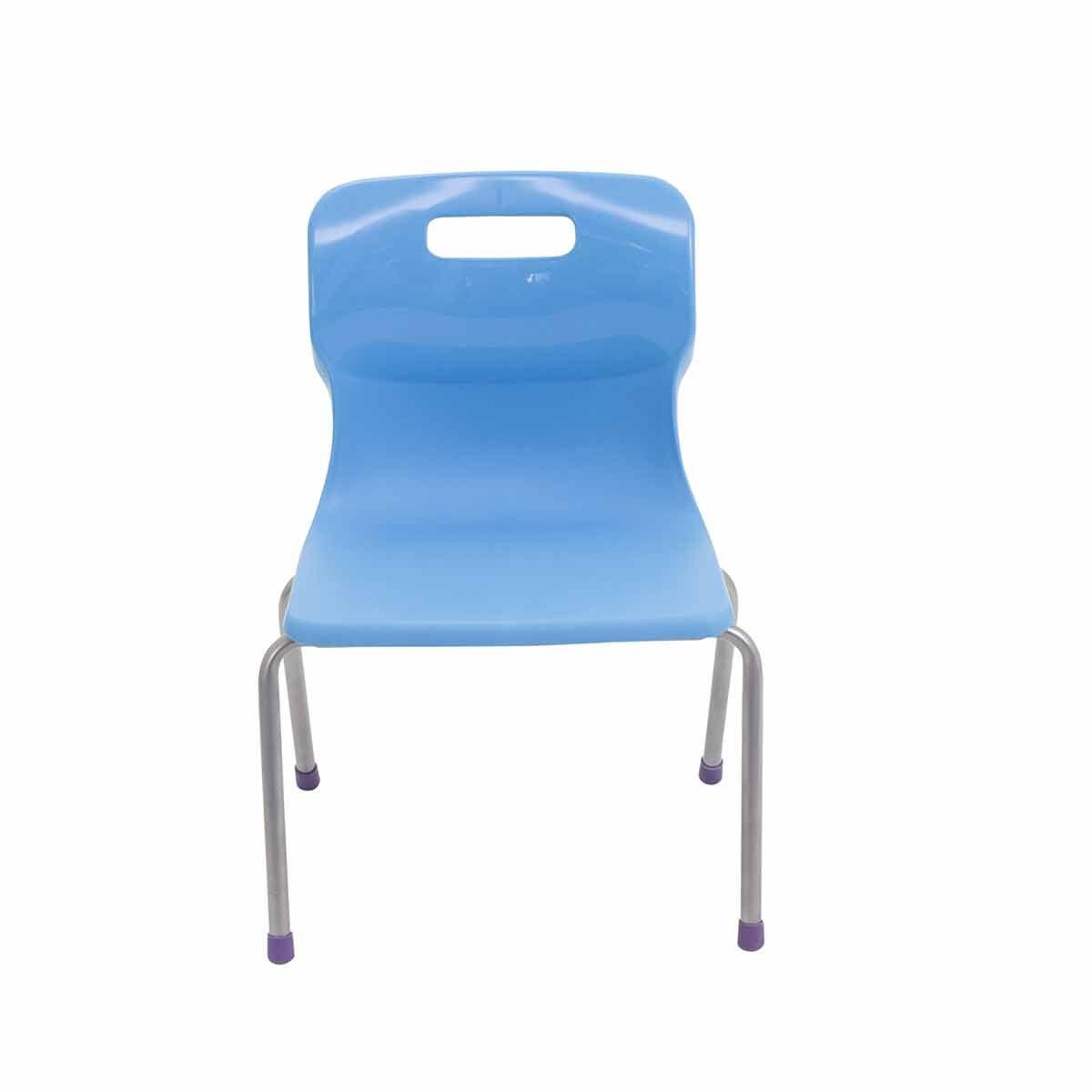 TC Office Titan 4 Leg Chair Size 2 Sky Blue