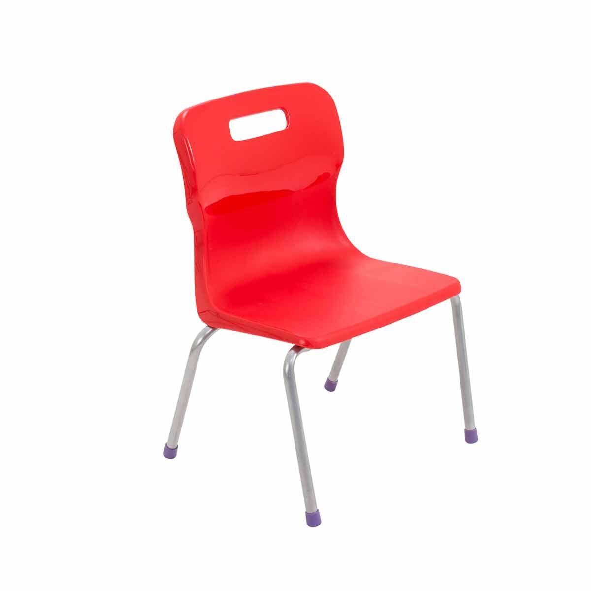 TC Office Titan 4 Leg Chair Size 2 Red