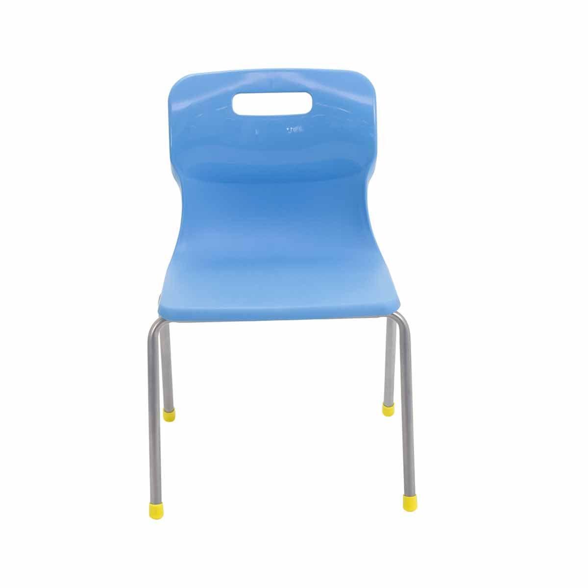 TC Office Titan 4 Leg Chair Size 3 Sky Blue