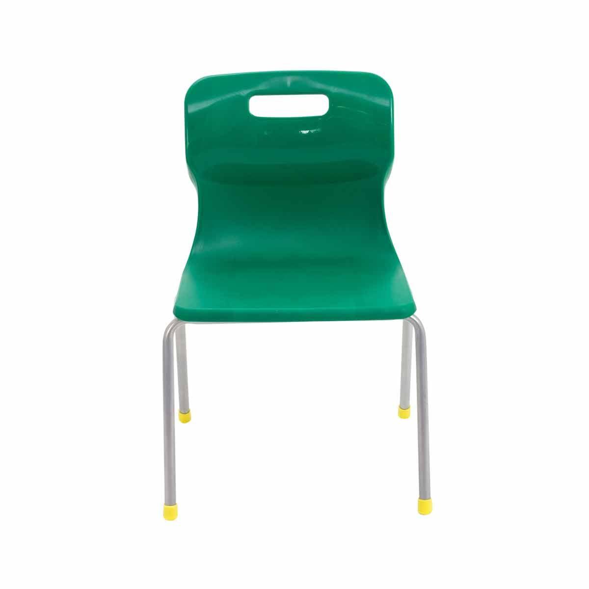 TC Office Titan 4 Leg Chair Size 3 Green