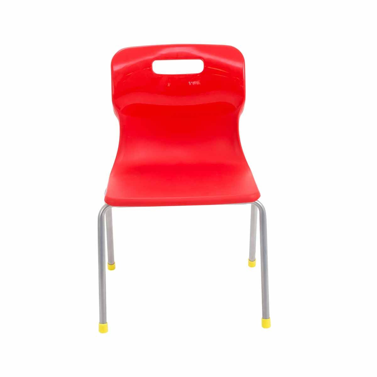 TC Office Titan 4 Leg Chair Size 3 Red