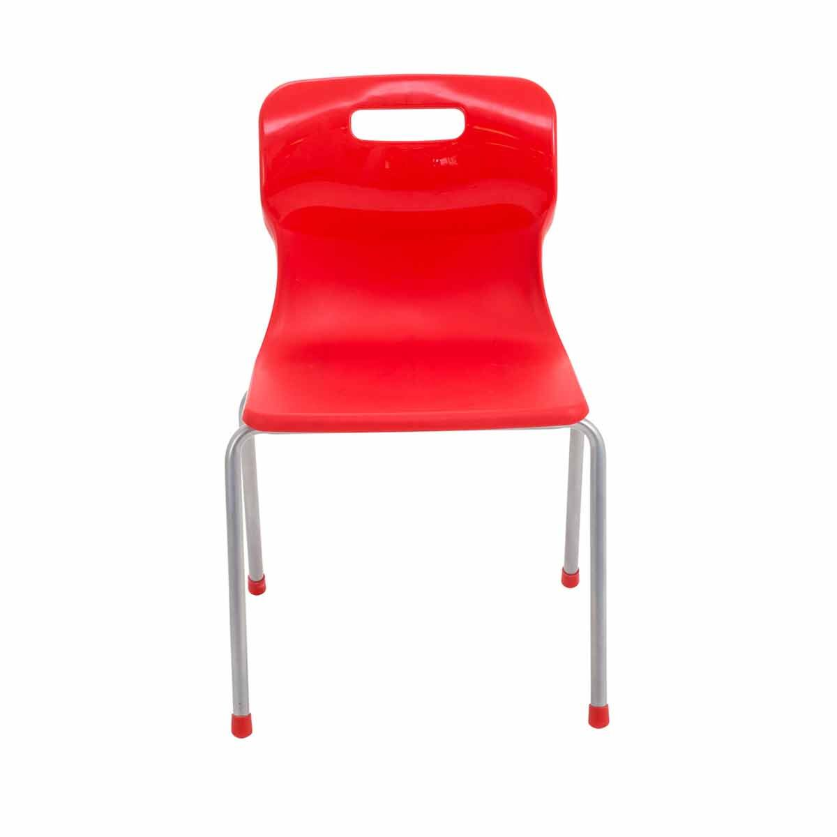 TC Office Titan 4 Leg Chair Size 4 Red