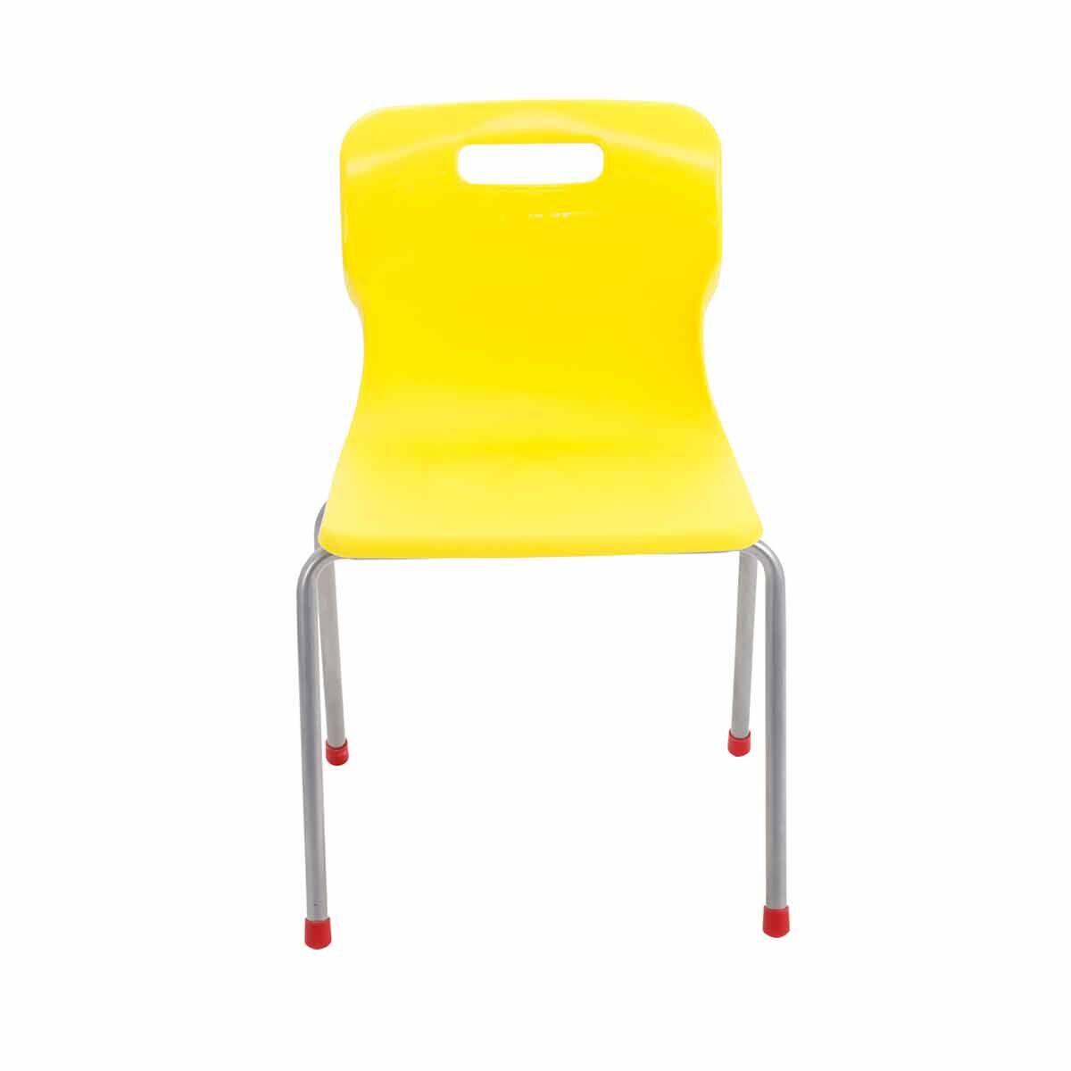 TC Office Titan 4 Leg Chair Size 4 Yellow