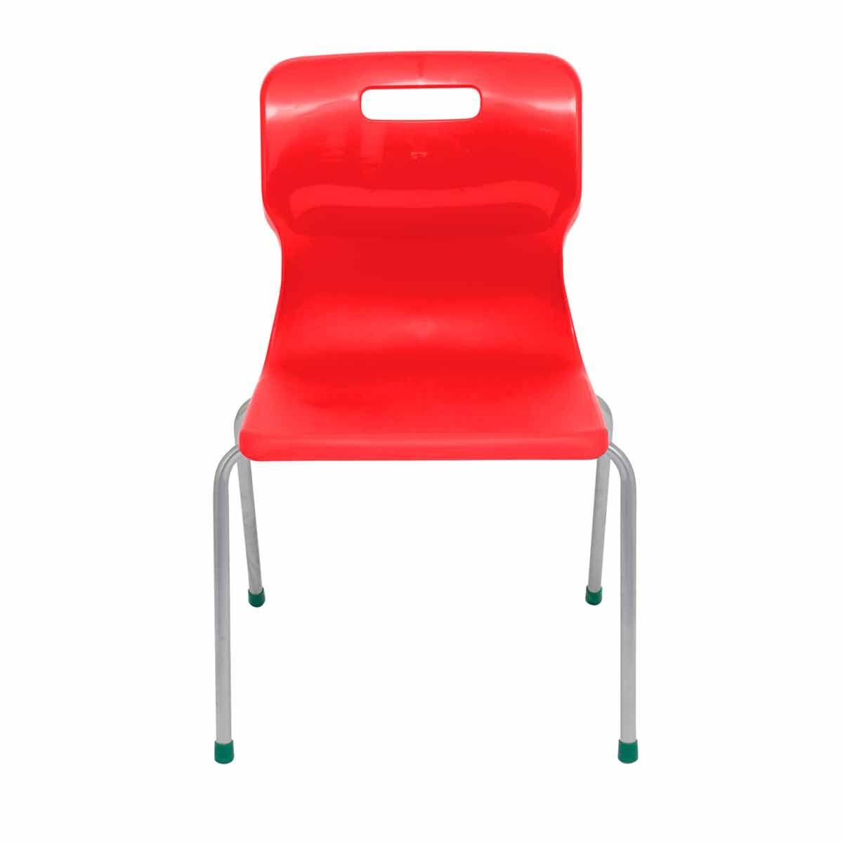 TC Office Titan 4 Leg Chair Size 5 Red