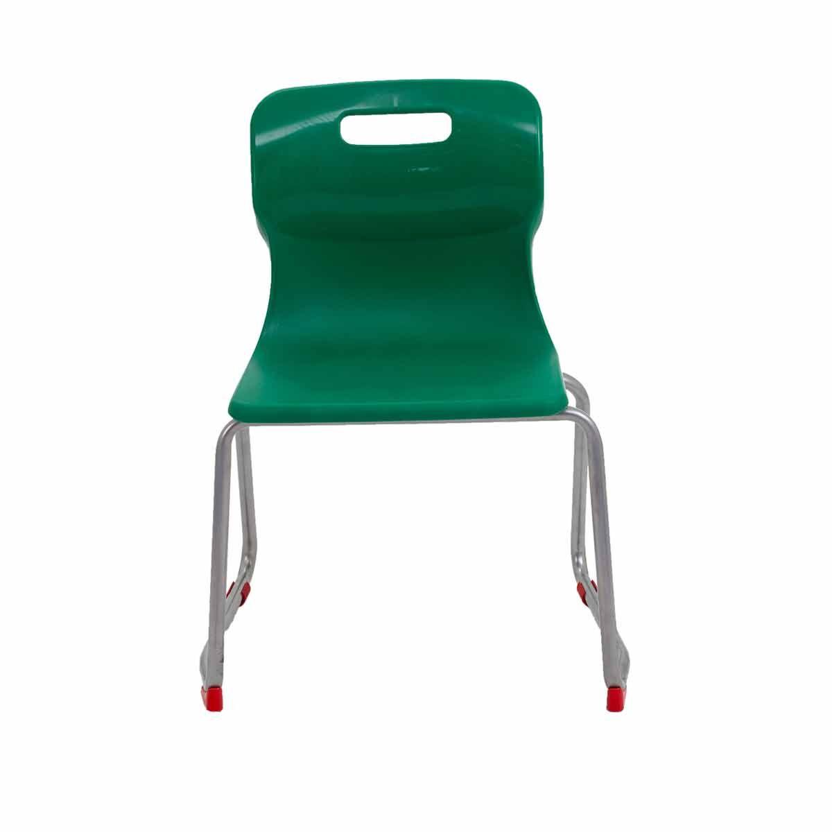 TC Office Titan Skid Base Chair Size 4 Green