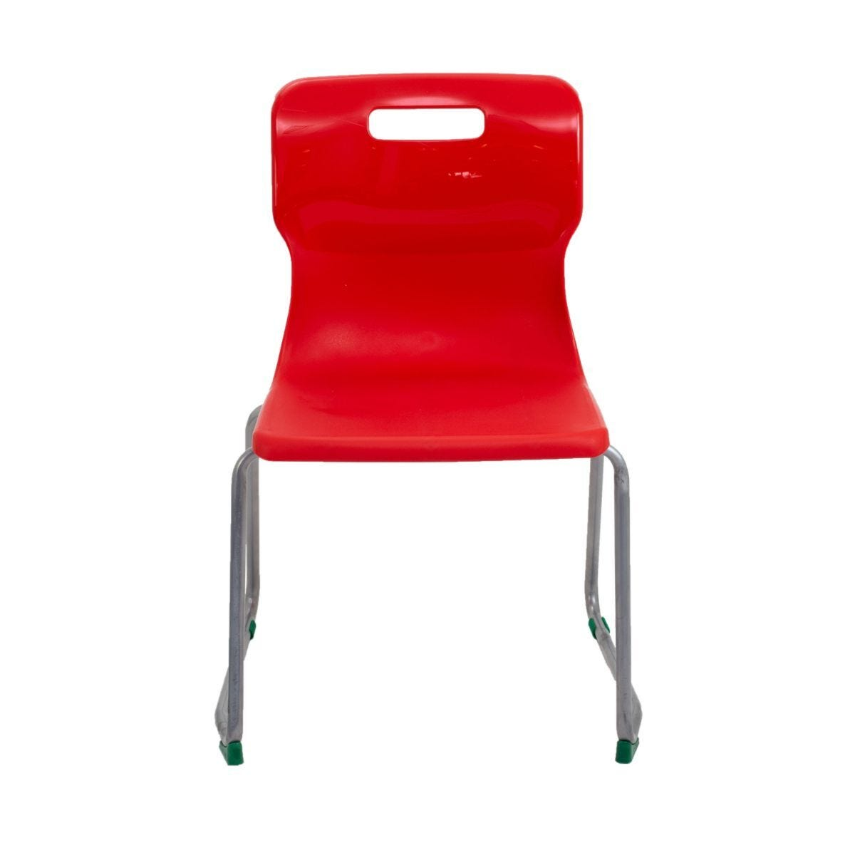 TC Office Titan Skid Base Chair Size 5 Red