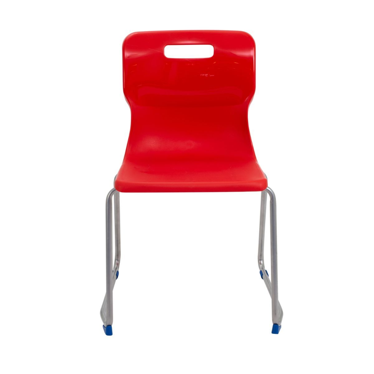 TC Office Titan Skid Base Chair Size 6 Red