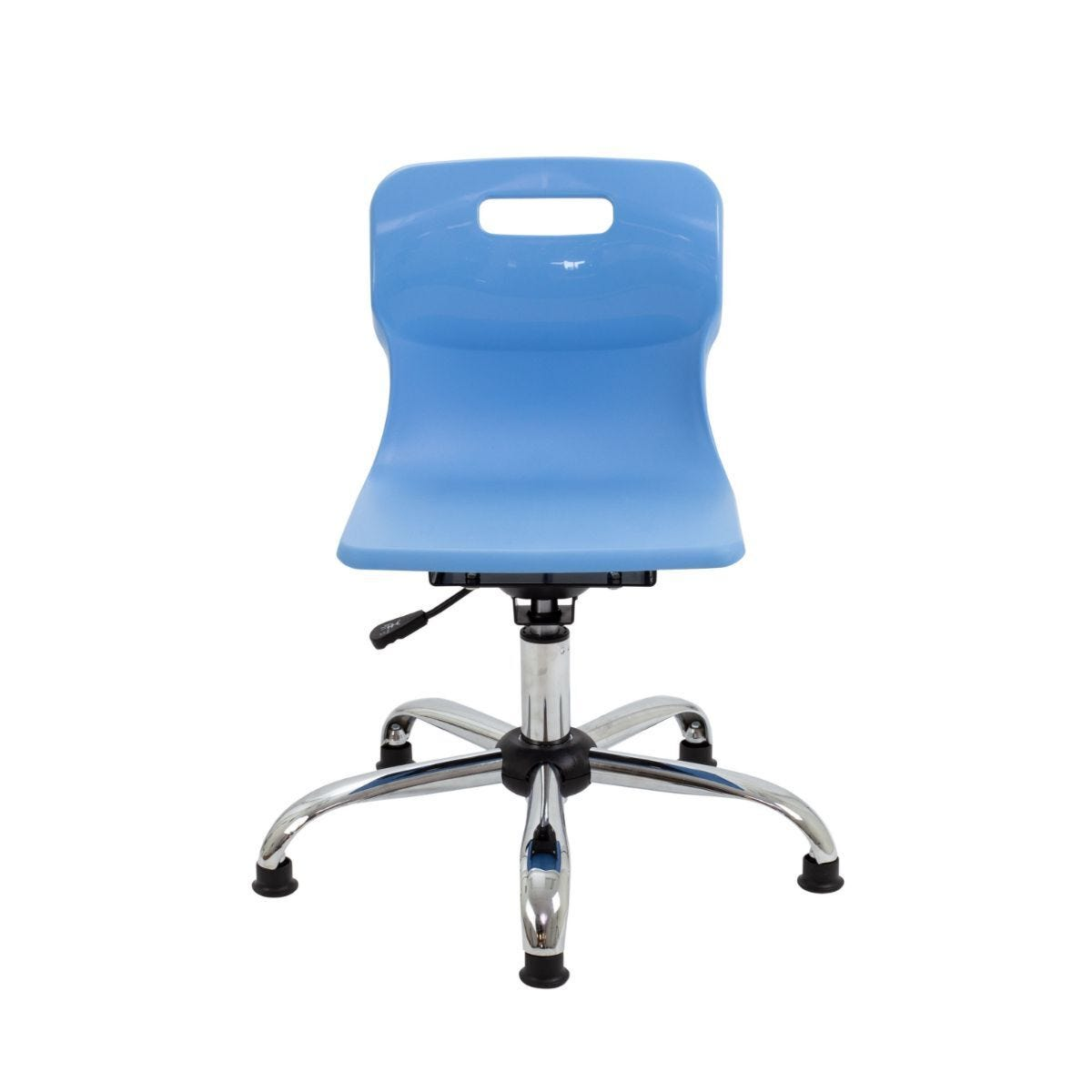 TC Office Titan Swivel Junior Chair with Glides Sky Blue