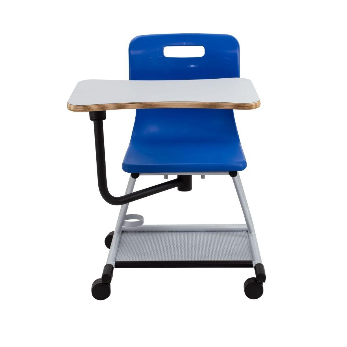 TC Office Titan Teach Chair with Writing Tablet Blue
