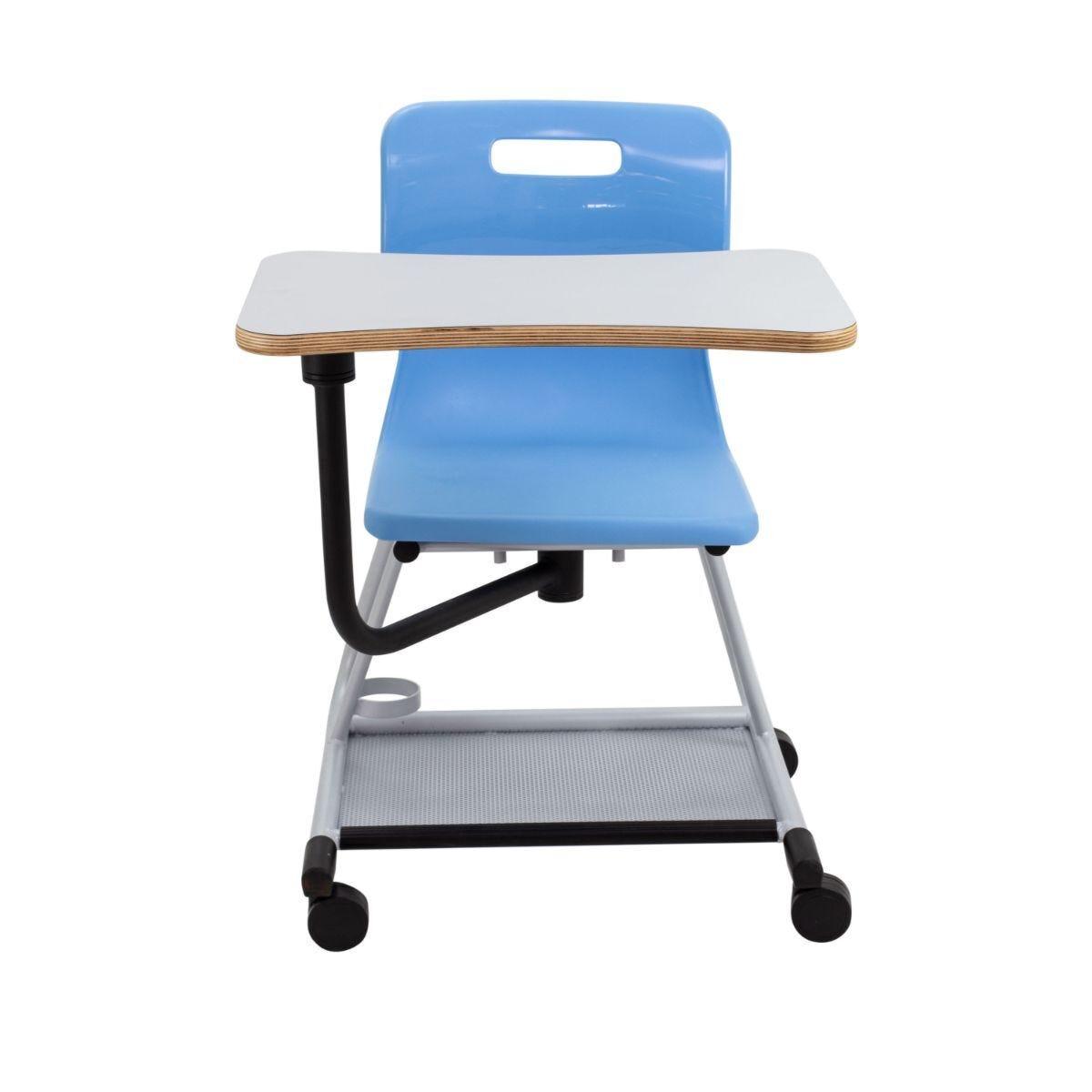 TC Office Titan Teach Chair with Writing Tablet Sky Blue