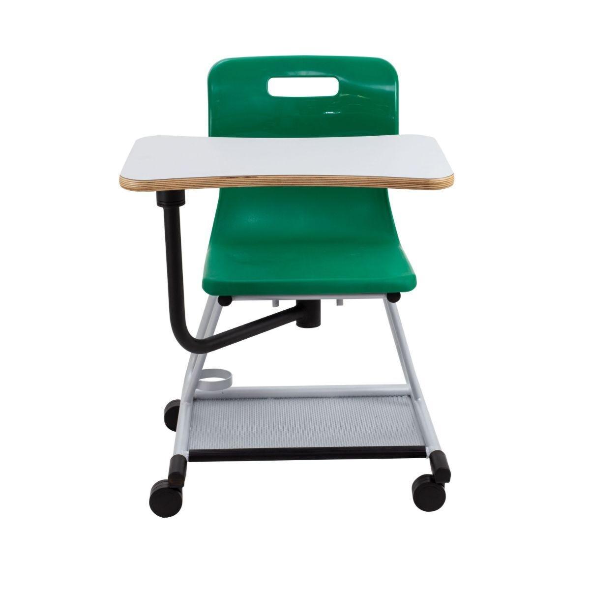 TC Office Titan Teach Chair with Writing Tablet Green