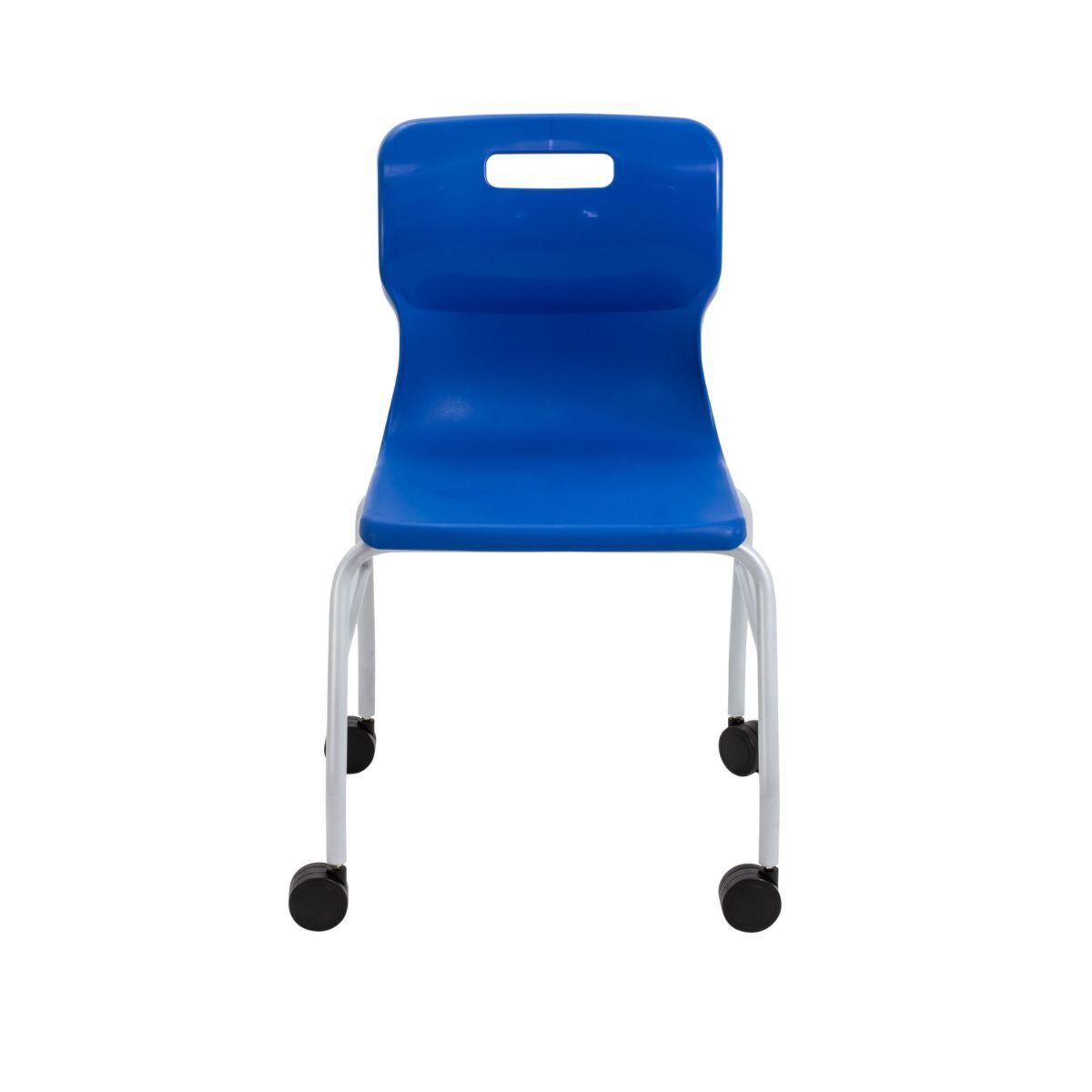 TC Office Titan Move 4 Leg Chair with Castors Blue