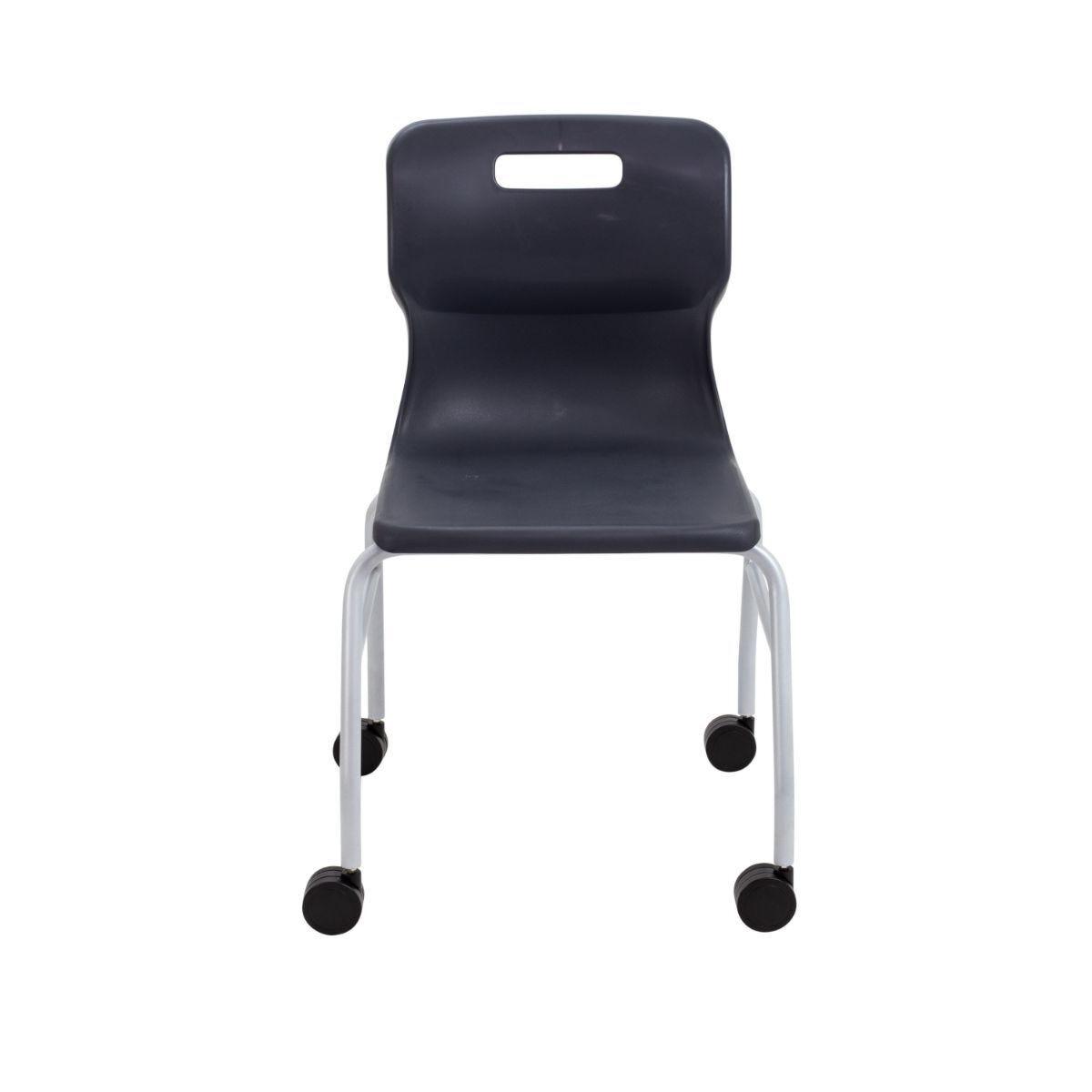 TC Office Titan Move 4 Leg Chair with Castors Charcoal